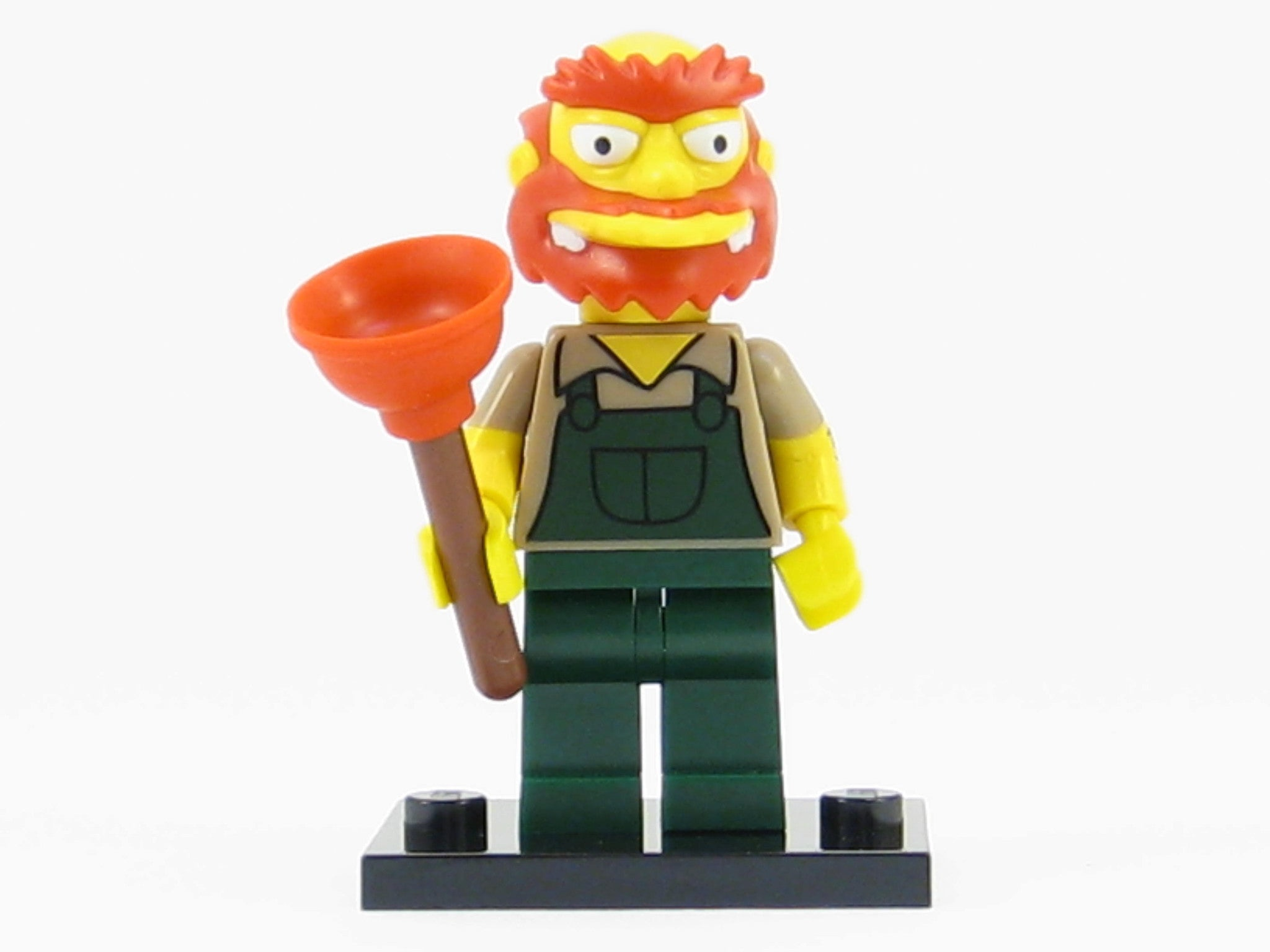 LEGO The Simpsons Series 2 Groundskeeper Willie Minifigure with Accessories