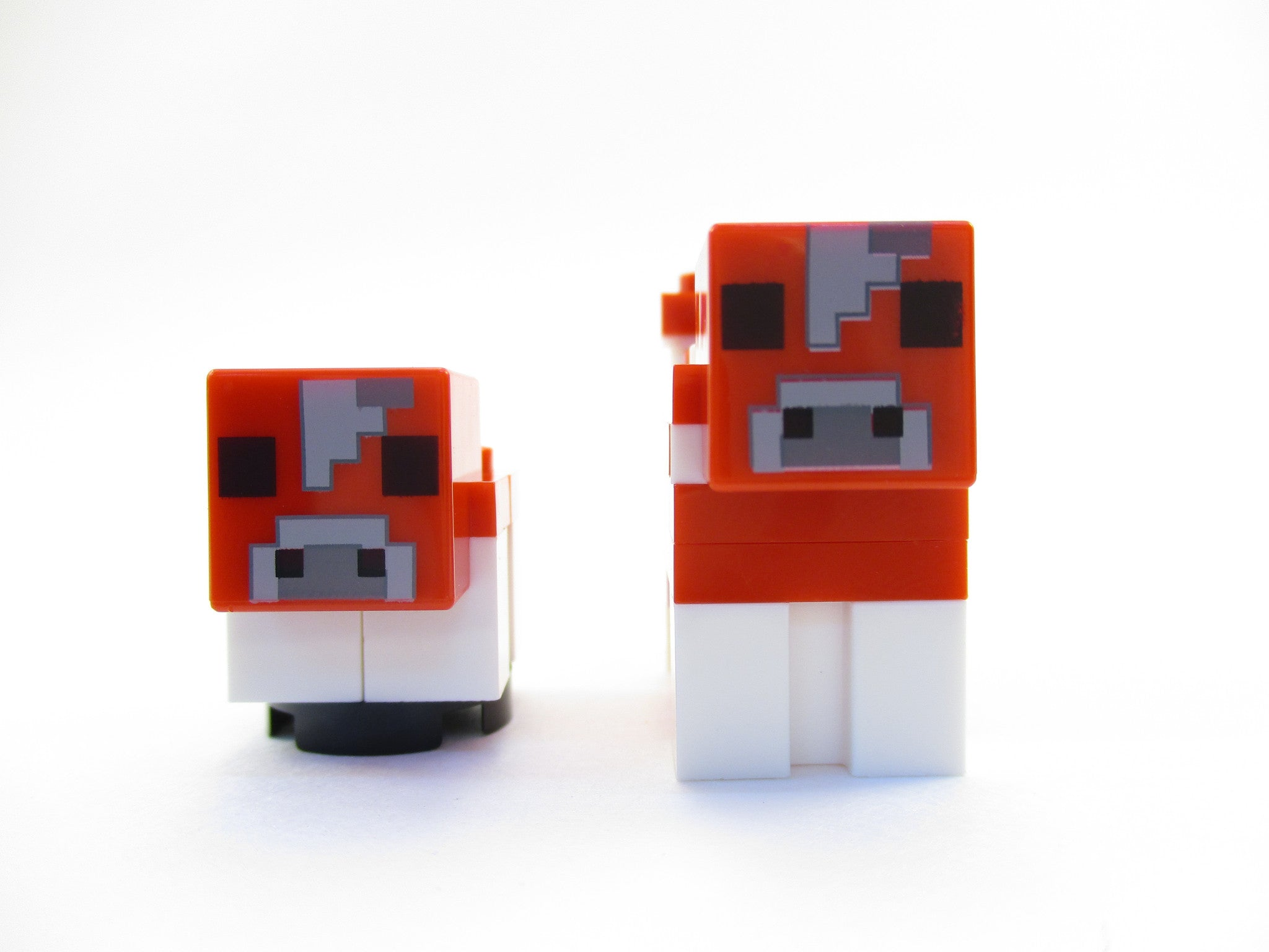 LEGO Minecraft Lot of 2 Mooshroom + Baby Mooshroom Minifigure 21129 Mini Fig