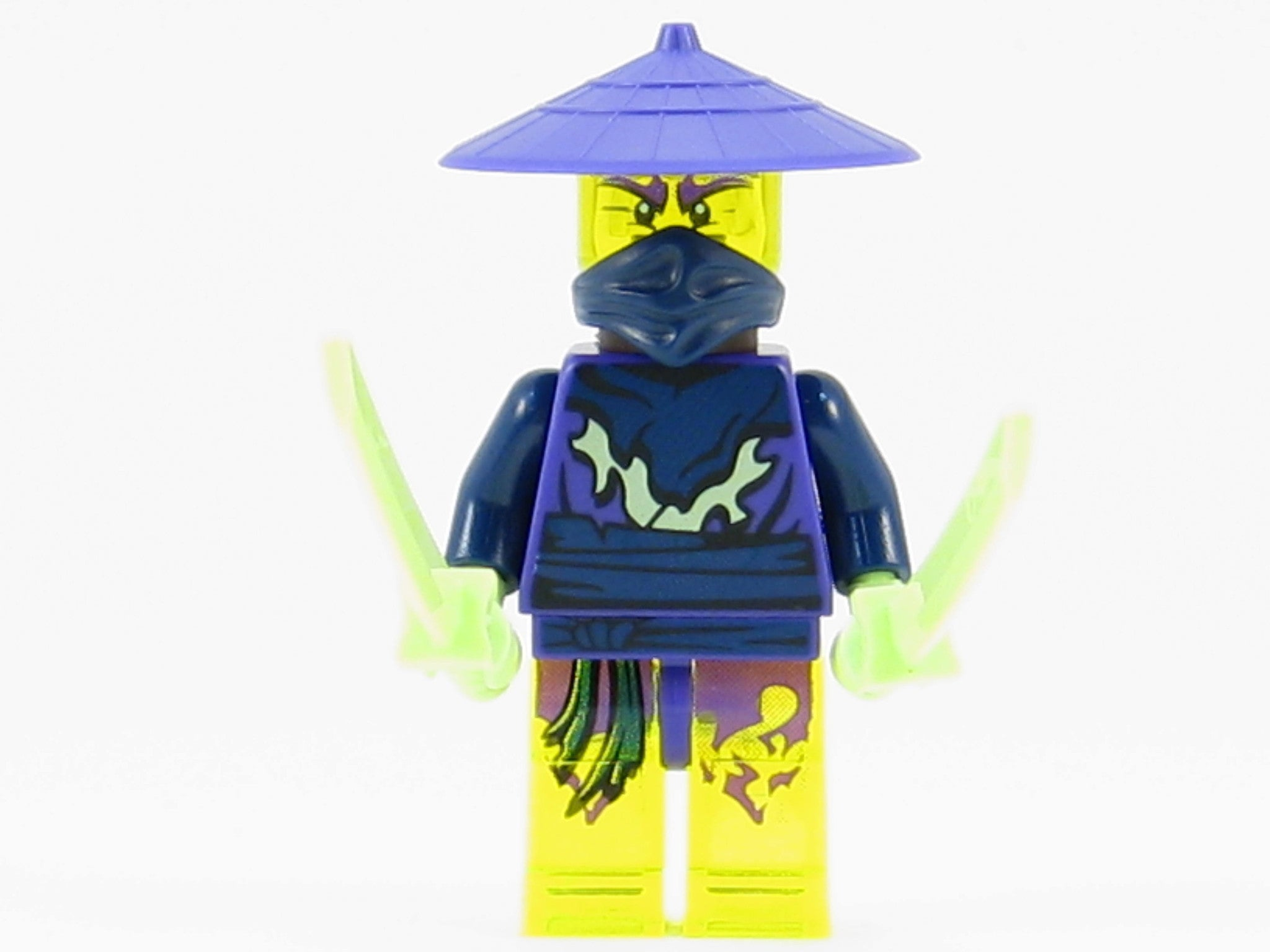 LEGO Ninjago Cowler Ghost Ninja Warrior Minifigure with Swords NEW 2015 70736