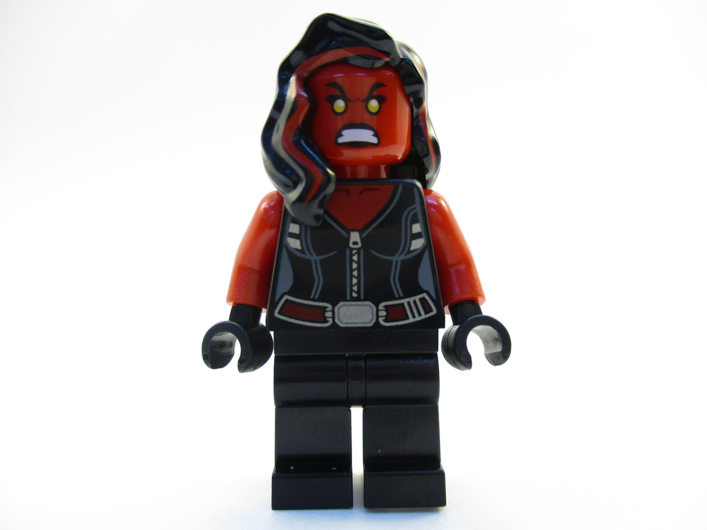 LEGO Marvel Super Heroes Red She-Hulk Minifigure 76078 She Hulk Mini Fig