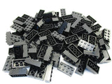 LEGO Black Brick 2x4 Lot of 100 Parts Pieces 3001