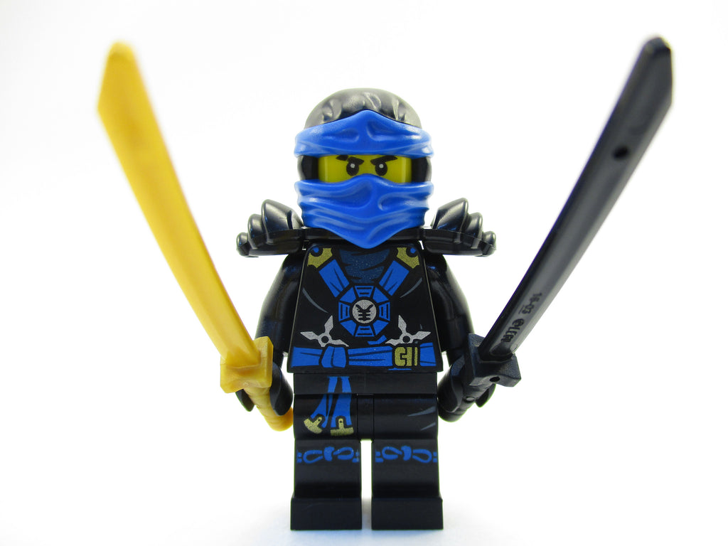 LEGO Ninjago Jay Blue Ninja Minifigure 70732 Mini Fig with Swords
