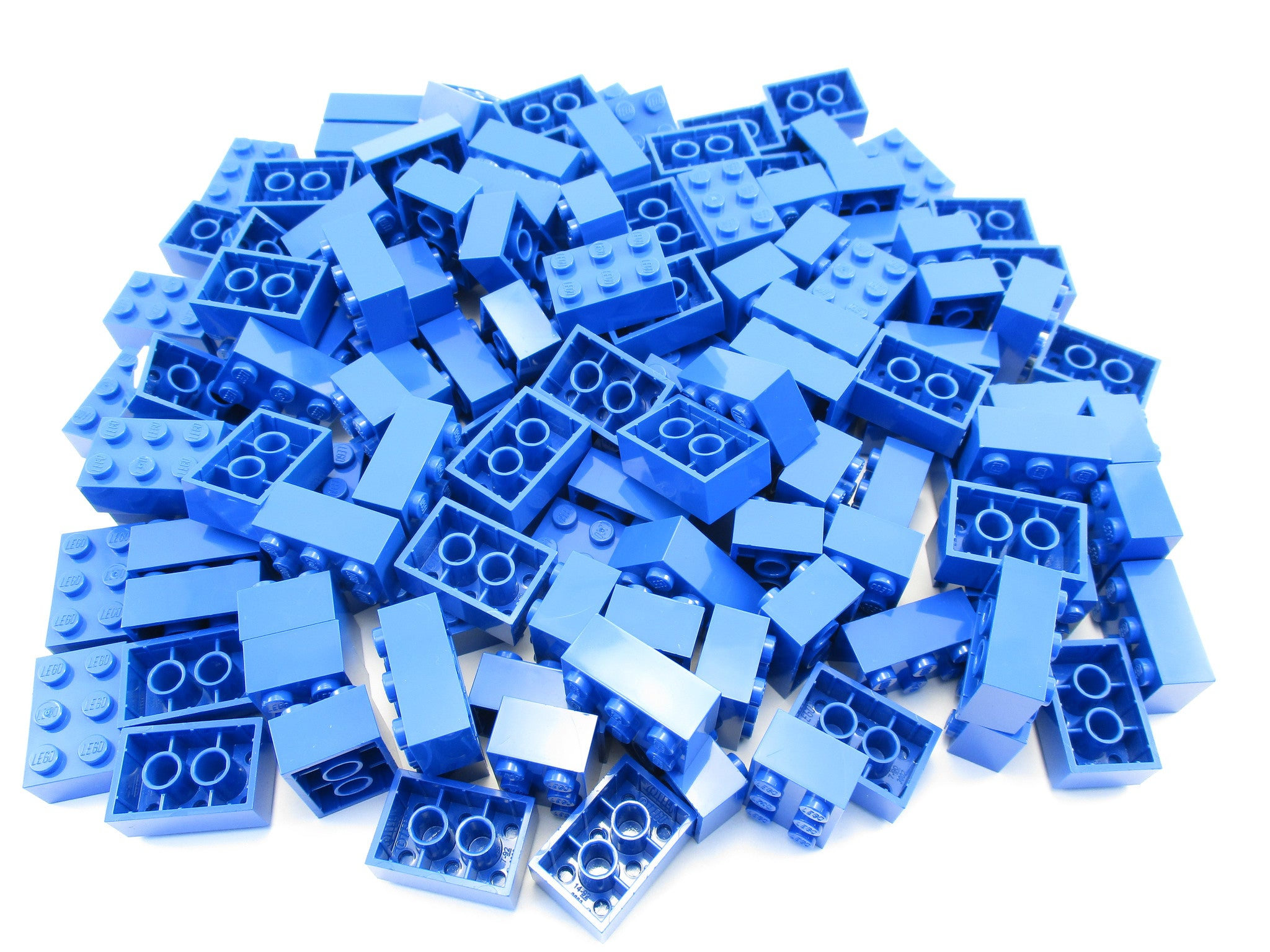 LEGO Blue Brick 2x3 Lot of 100 Parts Pieces 3002