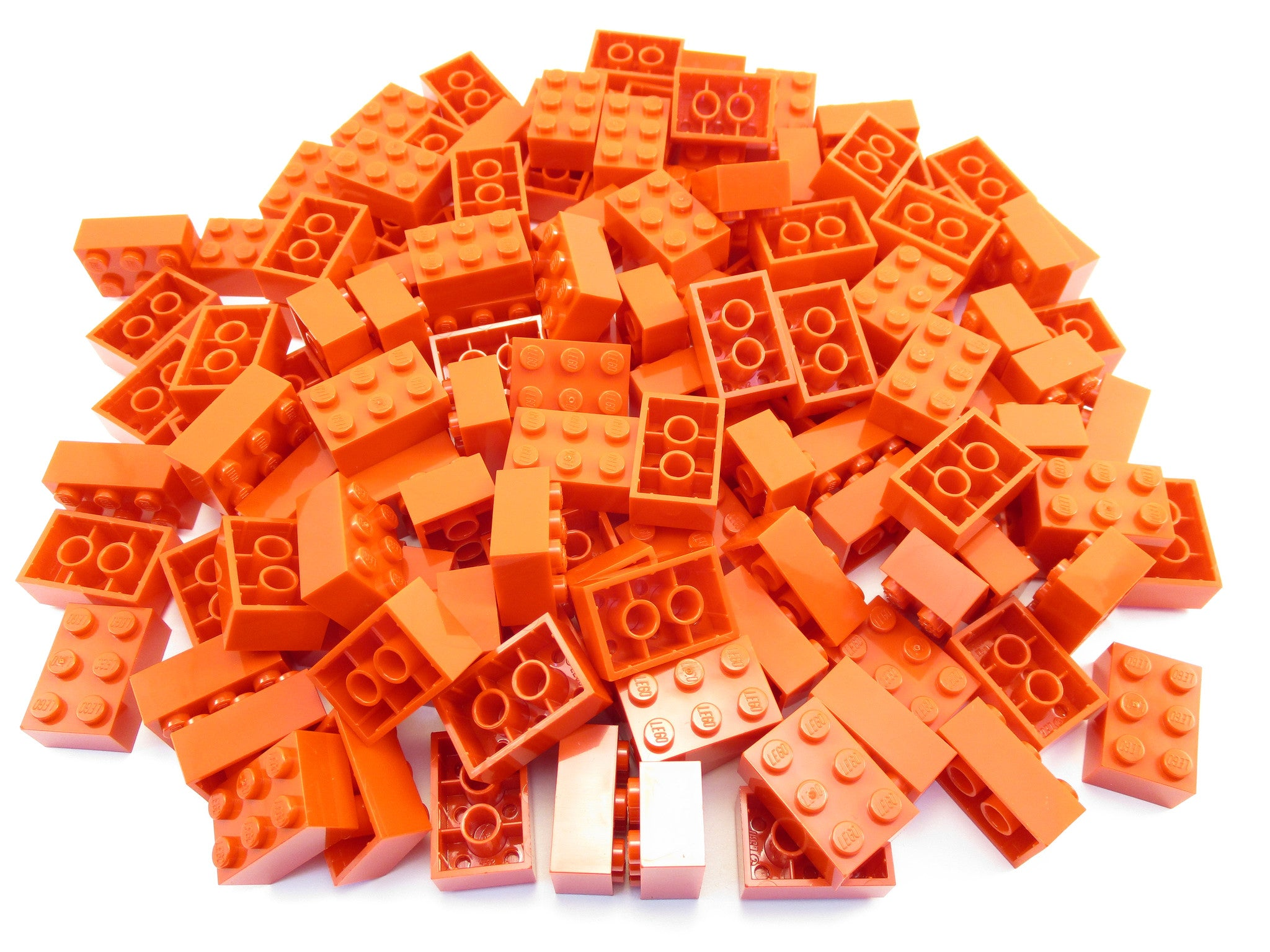 LEGO Red Brick 2x3 Lot of 100 Parts Pieces 3002