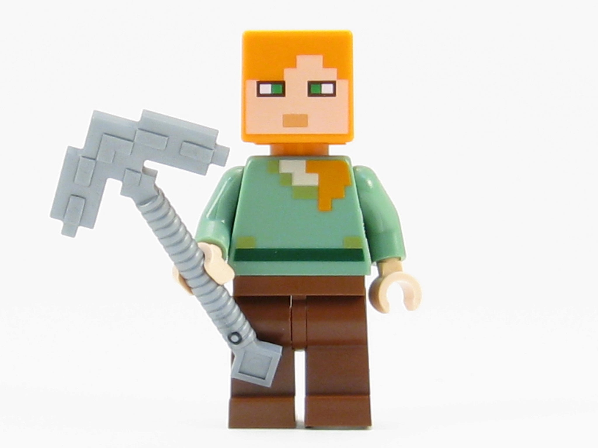 LEGO Minecraft Minifigure Alex Minifig with Iron Pickaxe