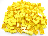 LEGO Yellow Brick 2x3 Lot of 100 Parts Pieces 3002