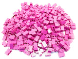 LEGO Magenta Brick 1x2 Lot of 100 Parts Pieces 3004