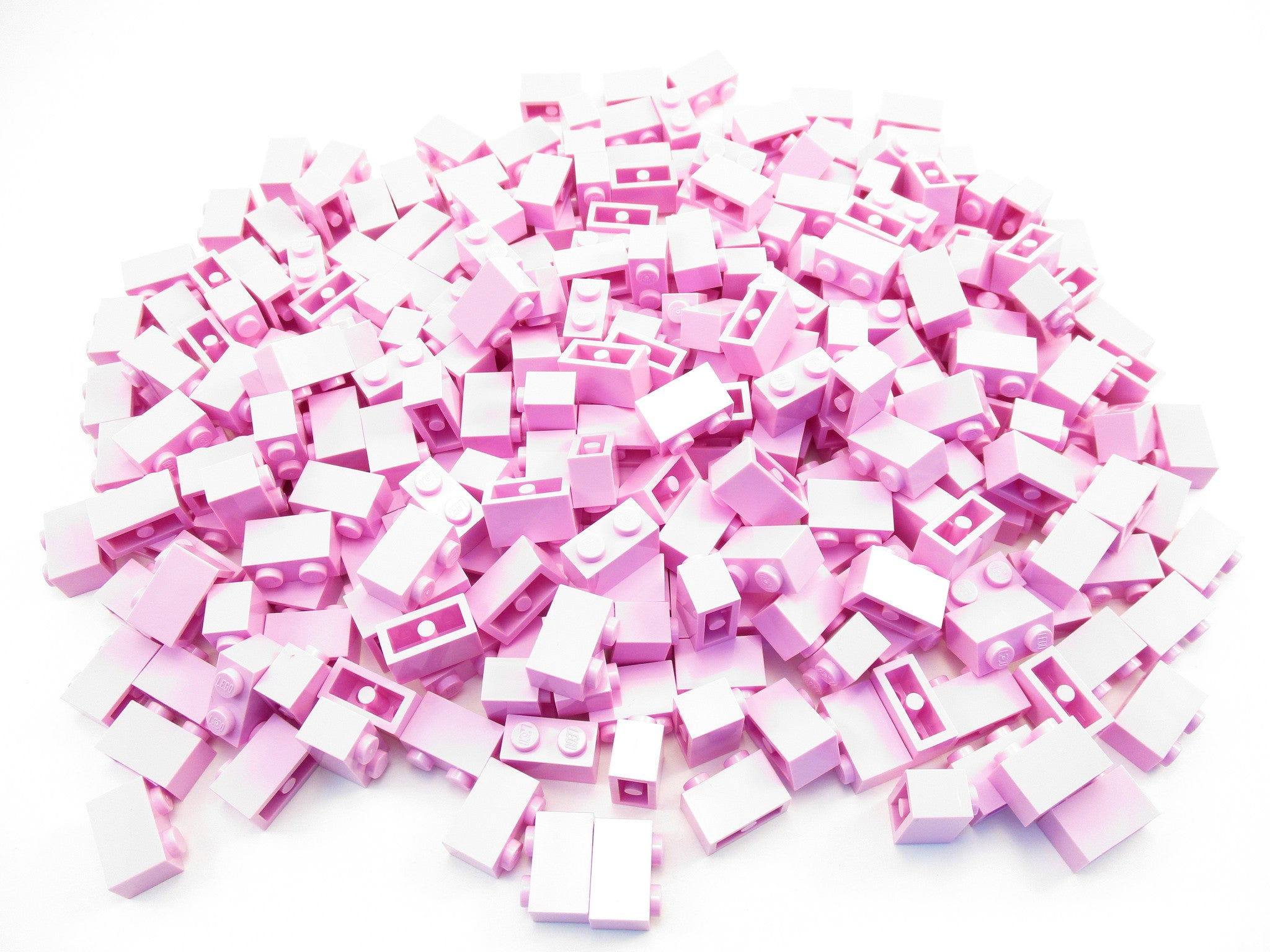 LEGO Bright Pink Brick 1x2 Lot of 100 Parts Pieces 3004