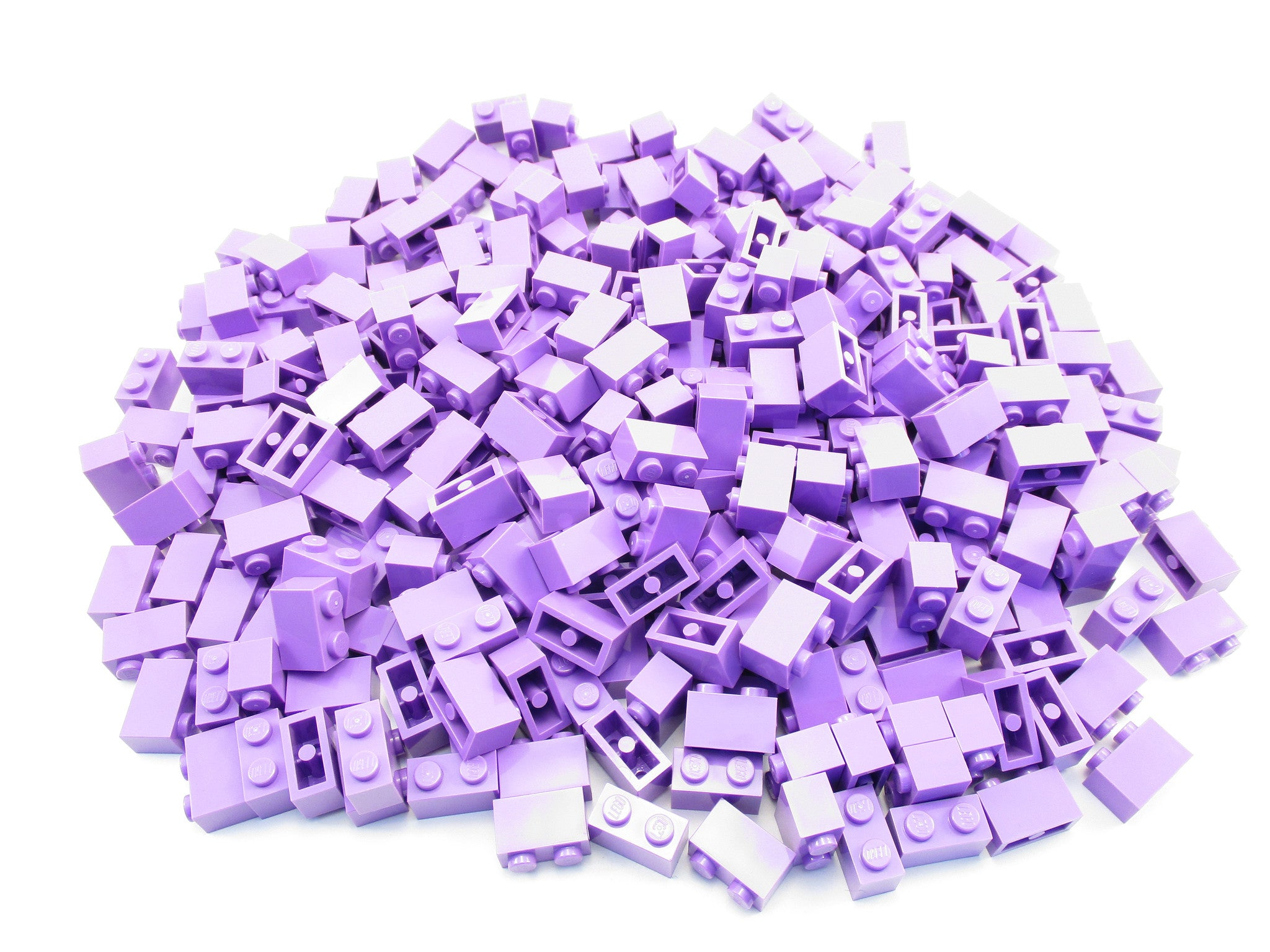 LEGO Medium Lavender Brick 1x2 Lot of 100 Parts Pieces 3004