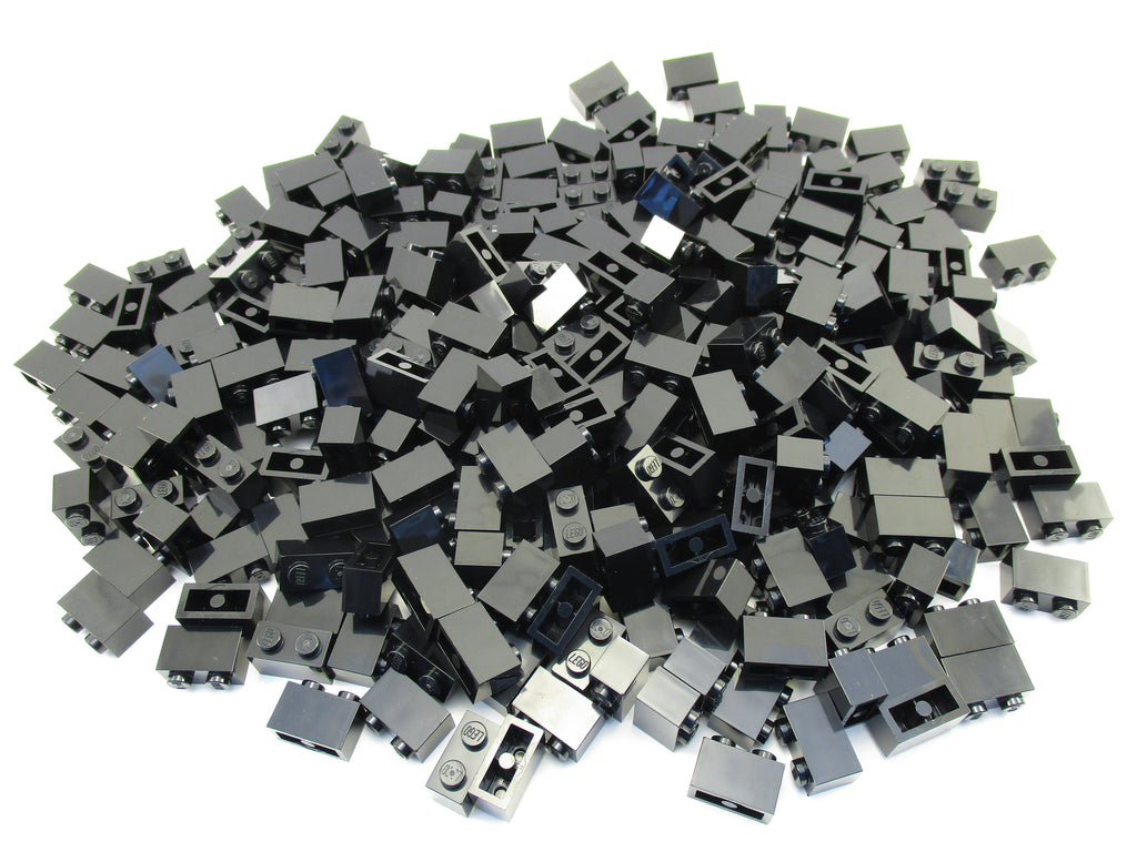 LEGO Black Brick 1x2 Lot of 100 Parts Pieces 3004