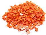 LEGO Red Brick 1x2 Lot of 100 Parts Pieces 3004