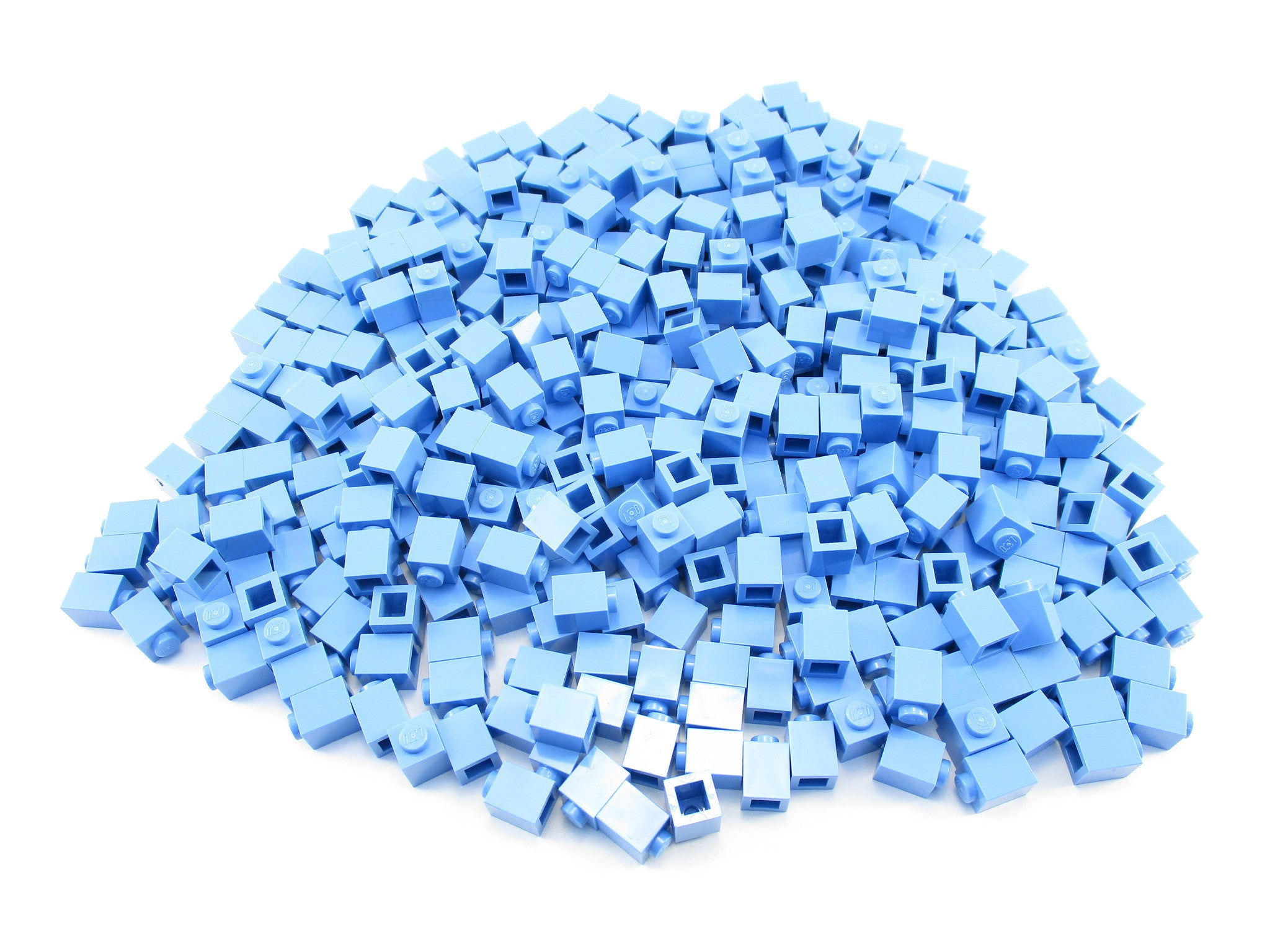 LEGO Medium Blue Brick 1x1 Lot of 100 Parts Pieces 3005