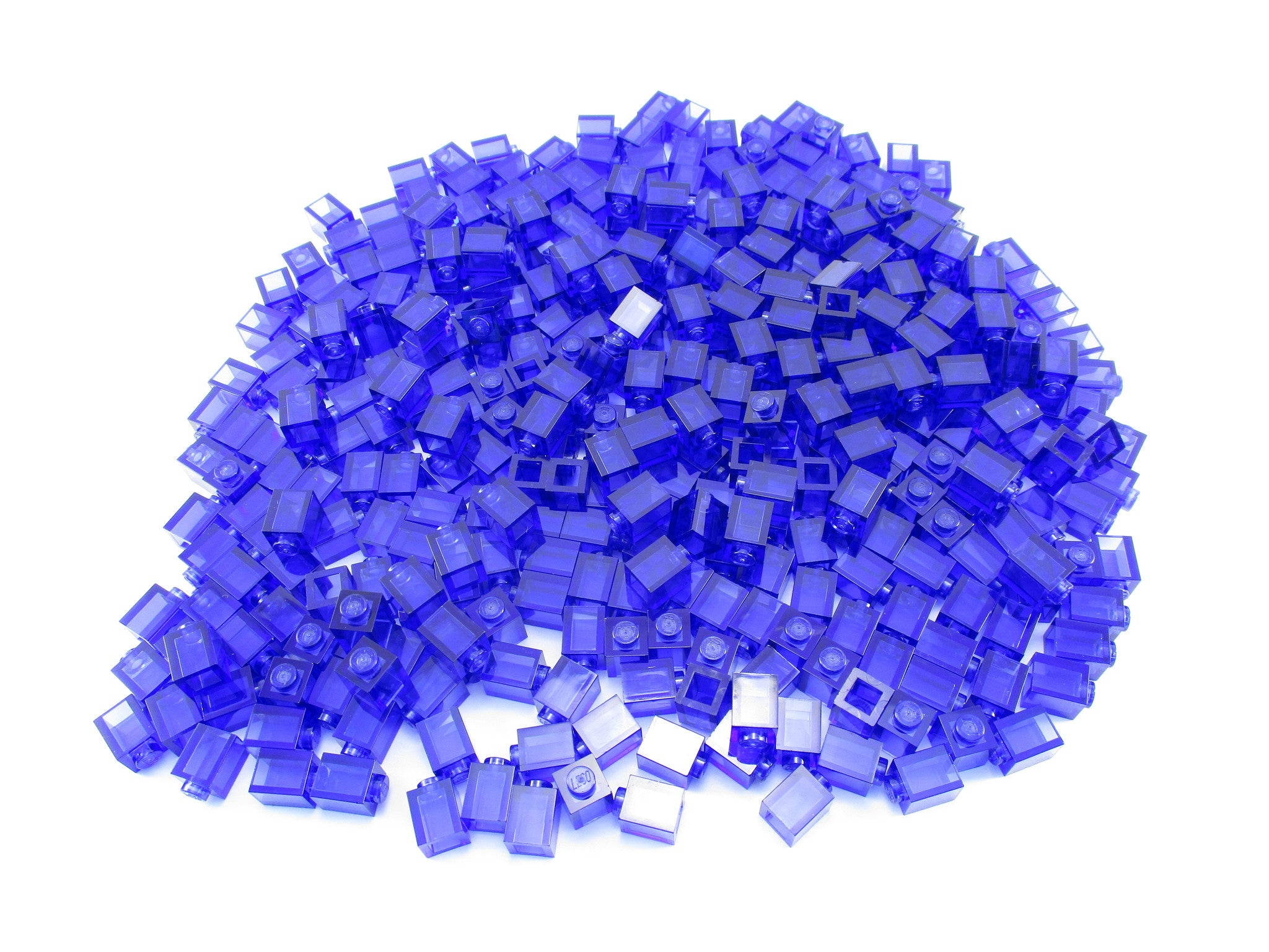LEGO Trans Purple Brick 1x1 Lot of 100 Parts Pieces 3005
