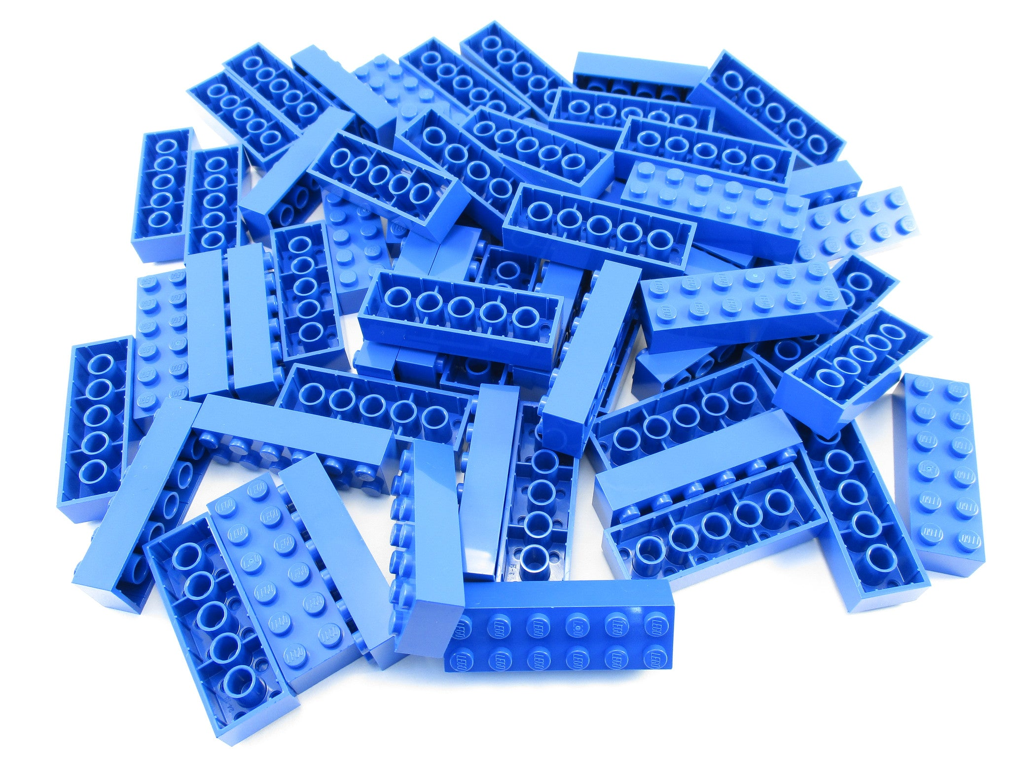 LEGO Blue Brick 2x6 Lot of 50 Parts Pieces 2456