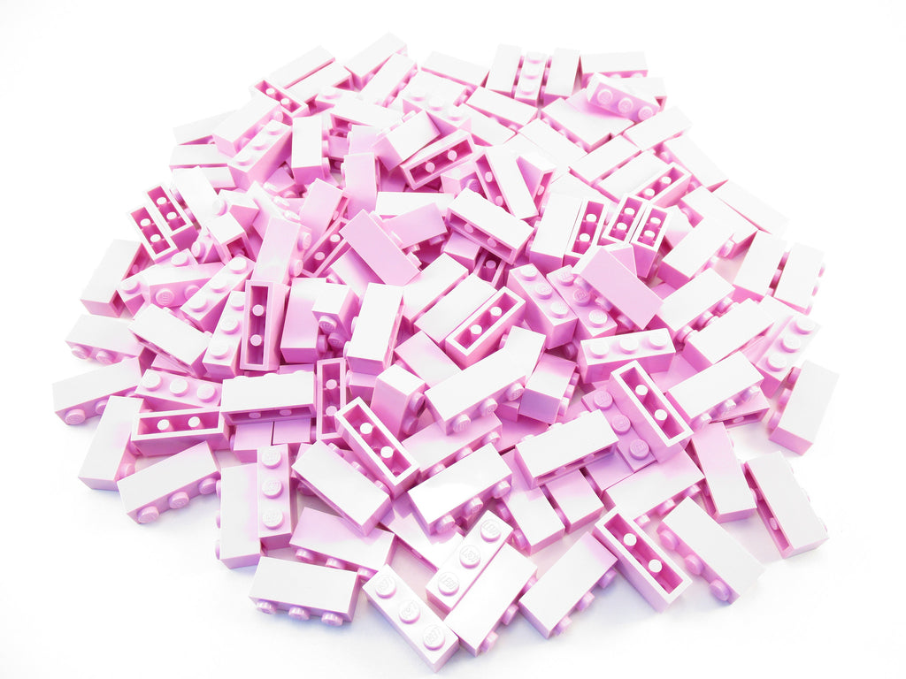 LEGO Bright Pink Brick Modified 1x4 Log Lot of 100 Parts Pieces 30137