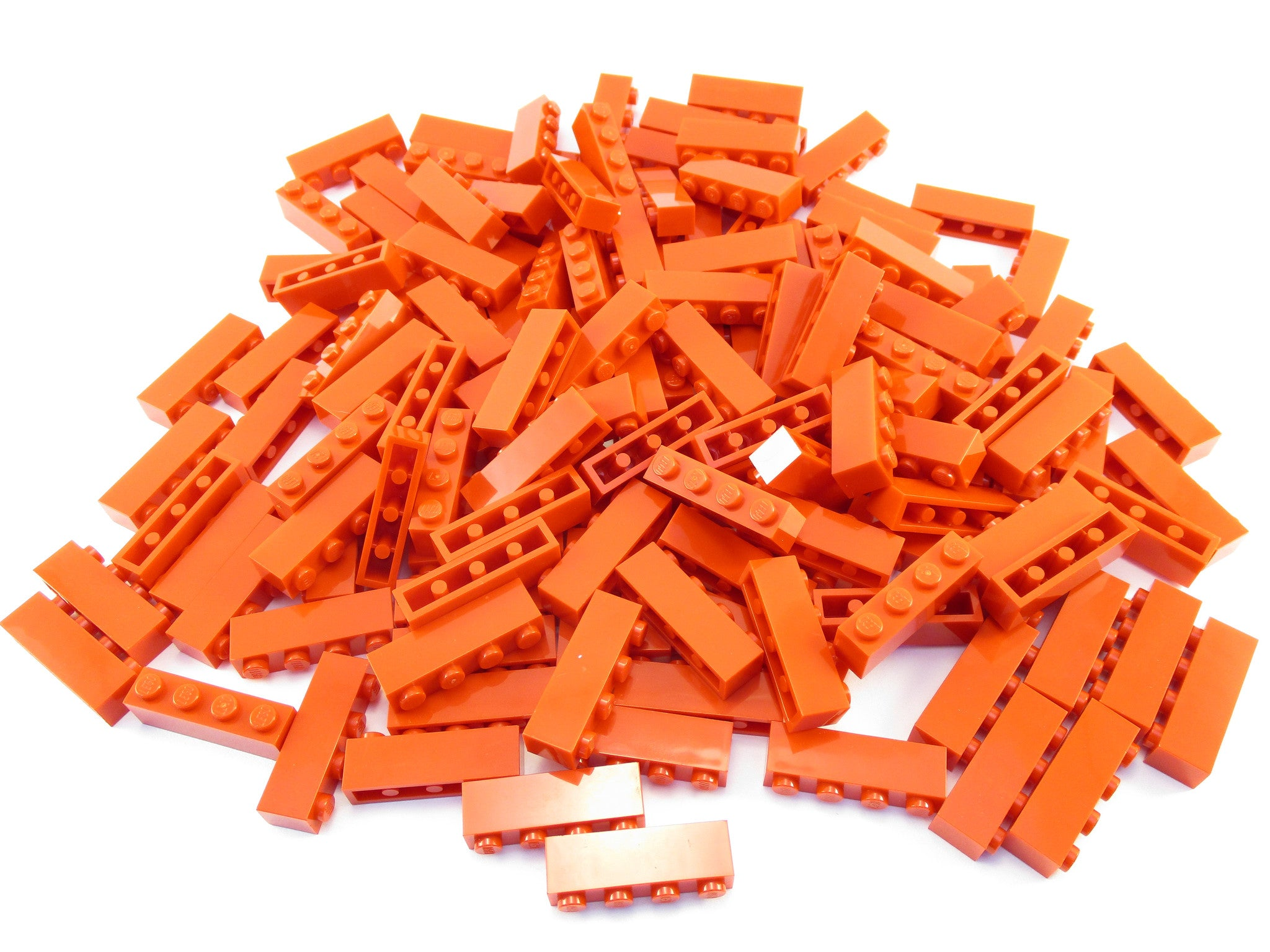 LEGO Red Brick 1x4 Lot of 100 Parts Pieces 3010