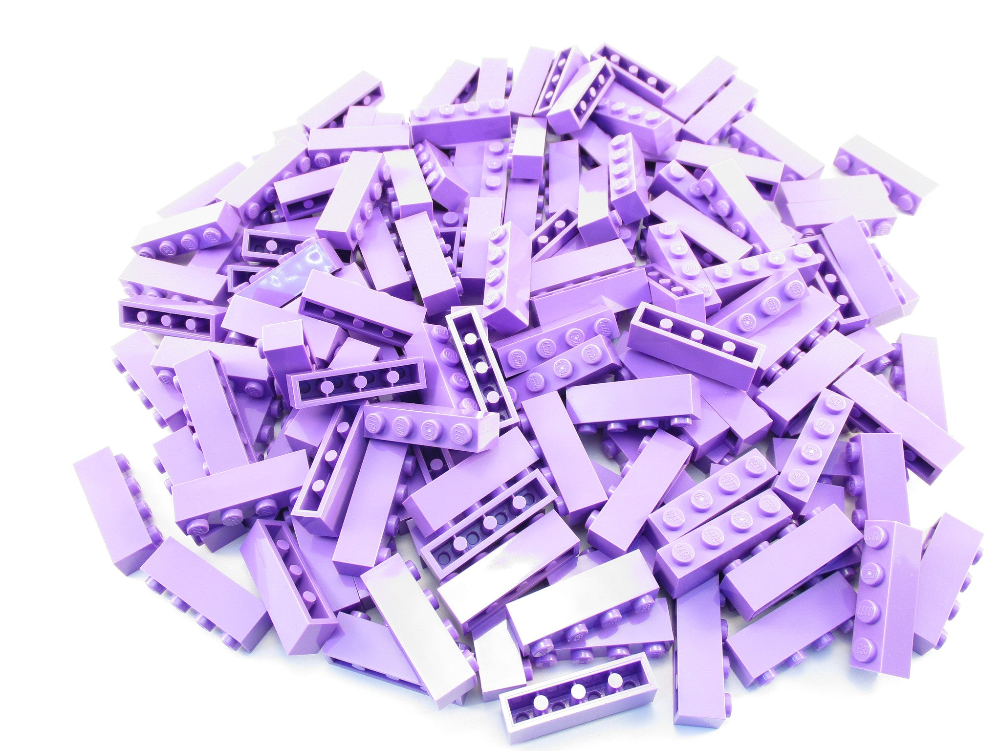 LEGO Medium Lavender Brick 1x4 Lot of 100 Parts Pieces 3010