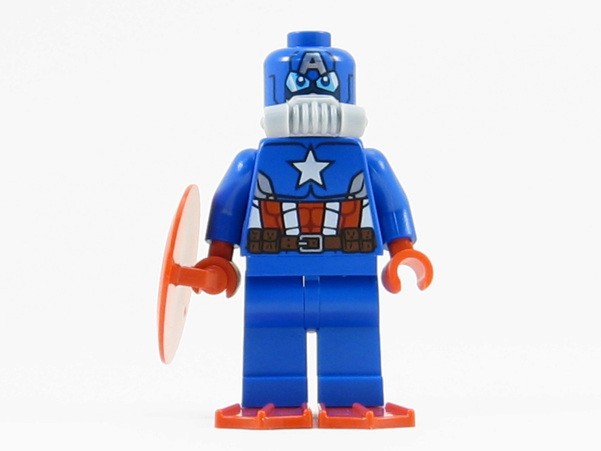 LEGO Marvel Super Heroes Scuba Captain America Minifigure Shield Red Flippers
