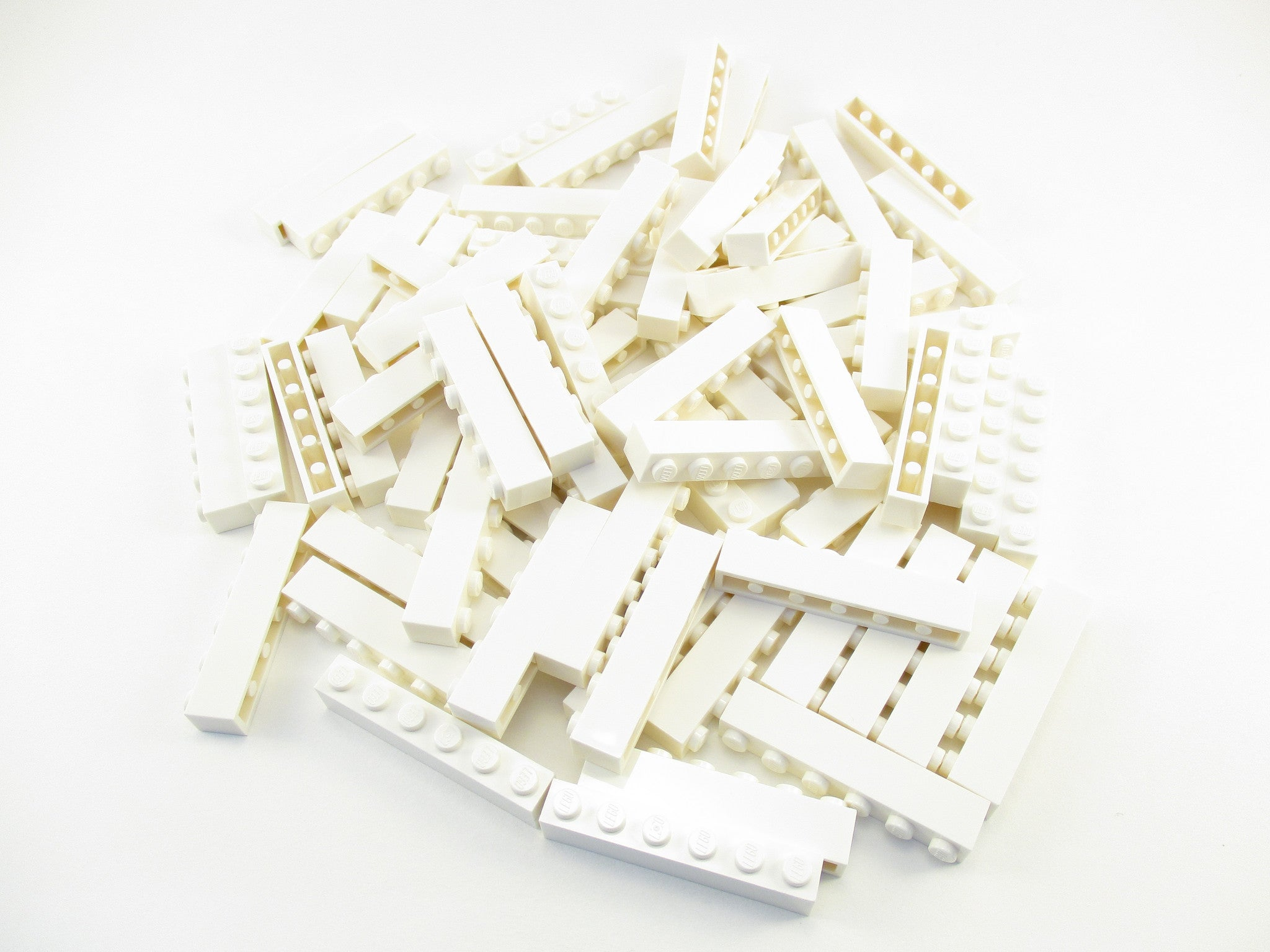LEGO White Brick 1x6 Lot of 100 Parts Pieces 3009