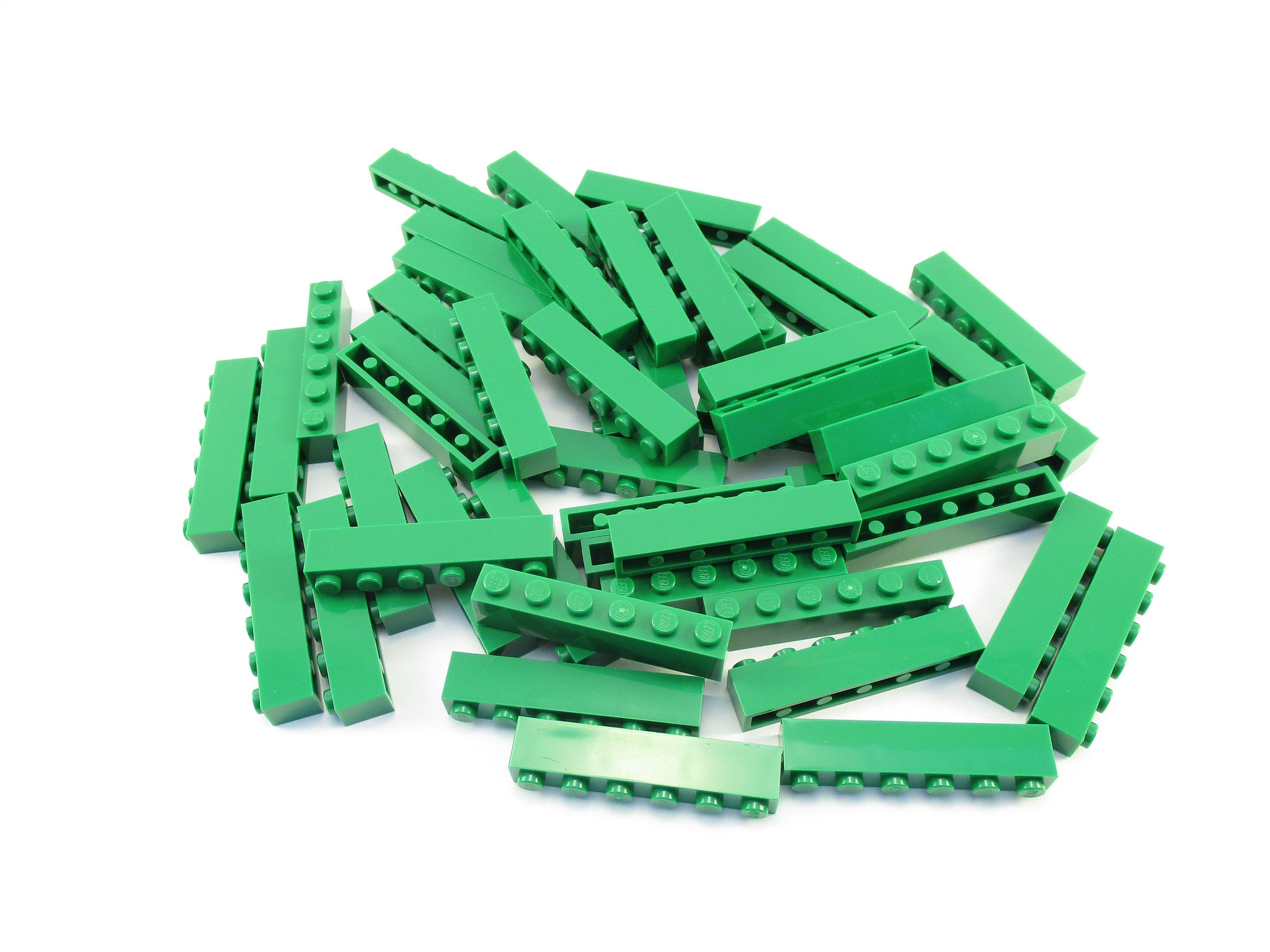 LEGO Green Brick 1x6 Lot of 50 Parts Pieces 3009