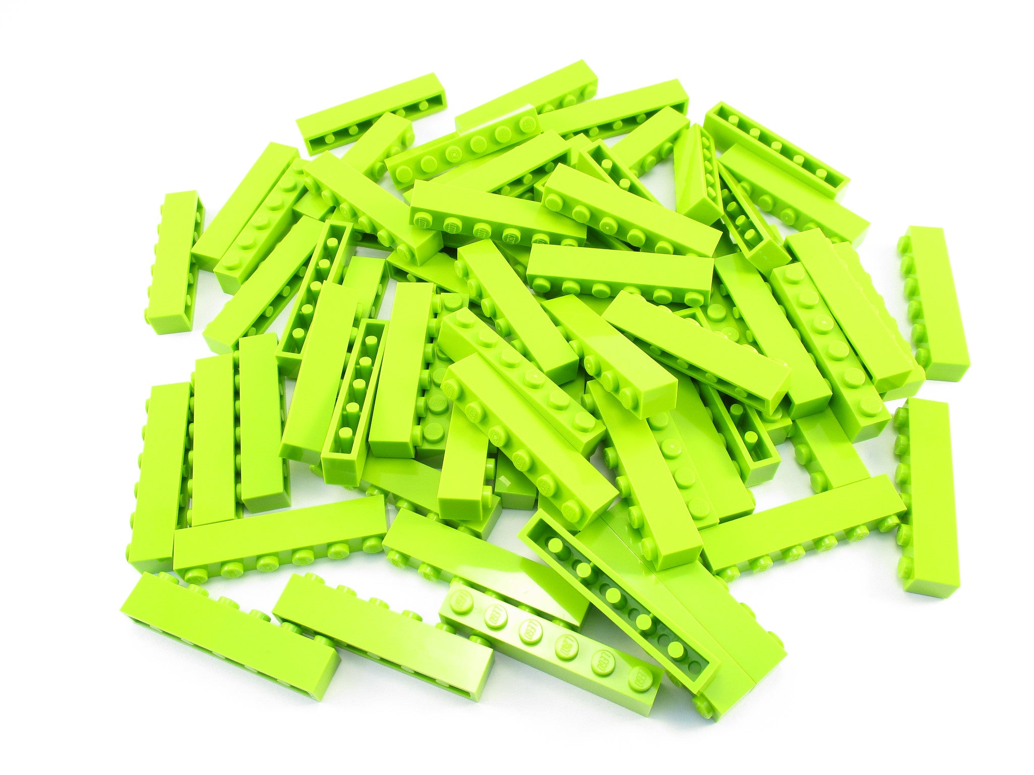 LEGO Lime Brick 1x6 Lot of 50 Parts Pieces 3009