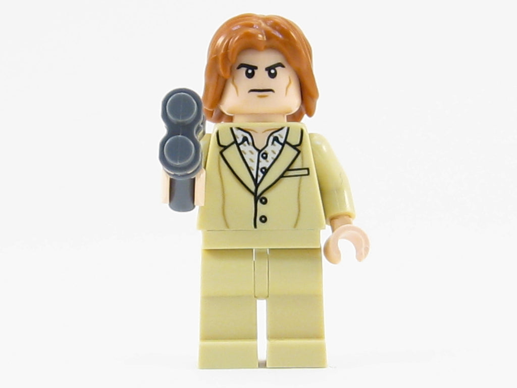 LEGO DC Super Heroes Lex Luthor Minifigure Mini Fig Tan Suit Hair 76046