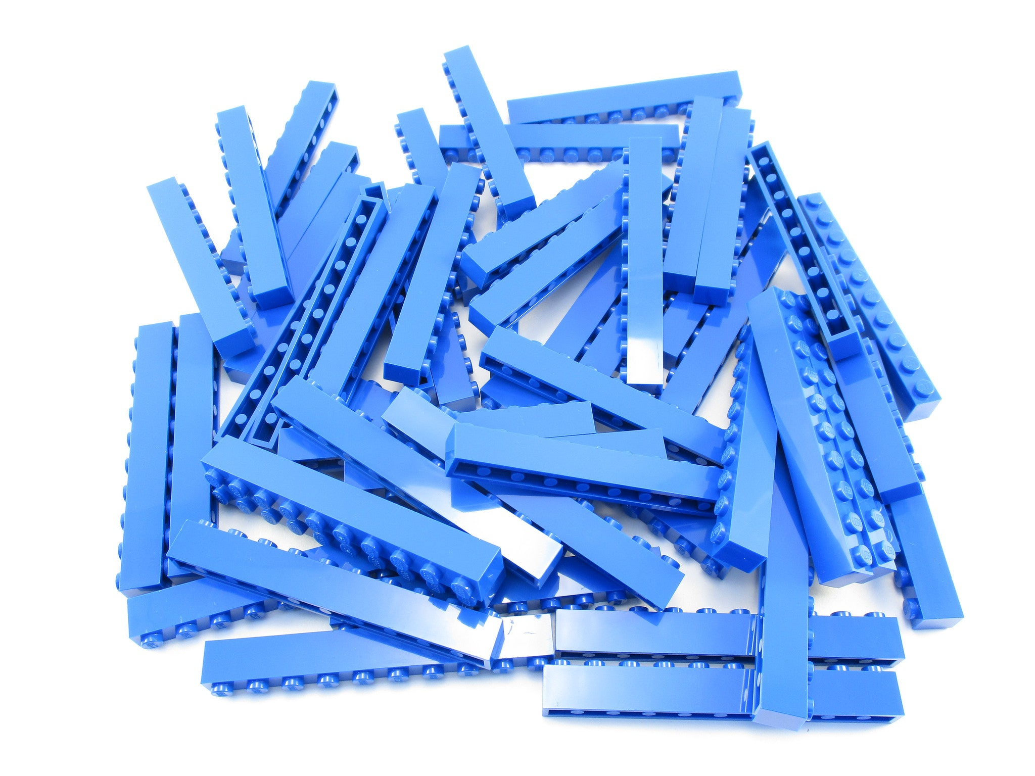LEGO Blue Brick 1x10 Lot of 50 Parts Pieces 6111