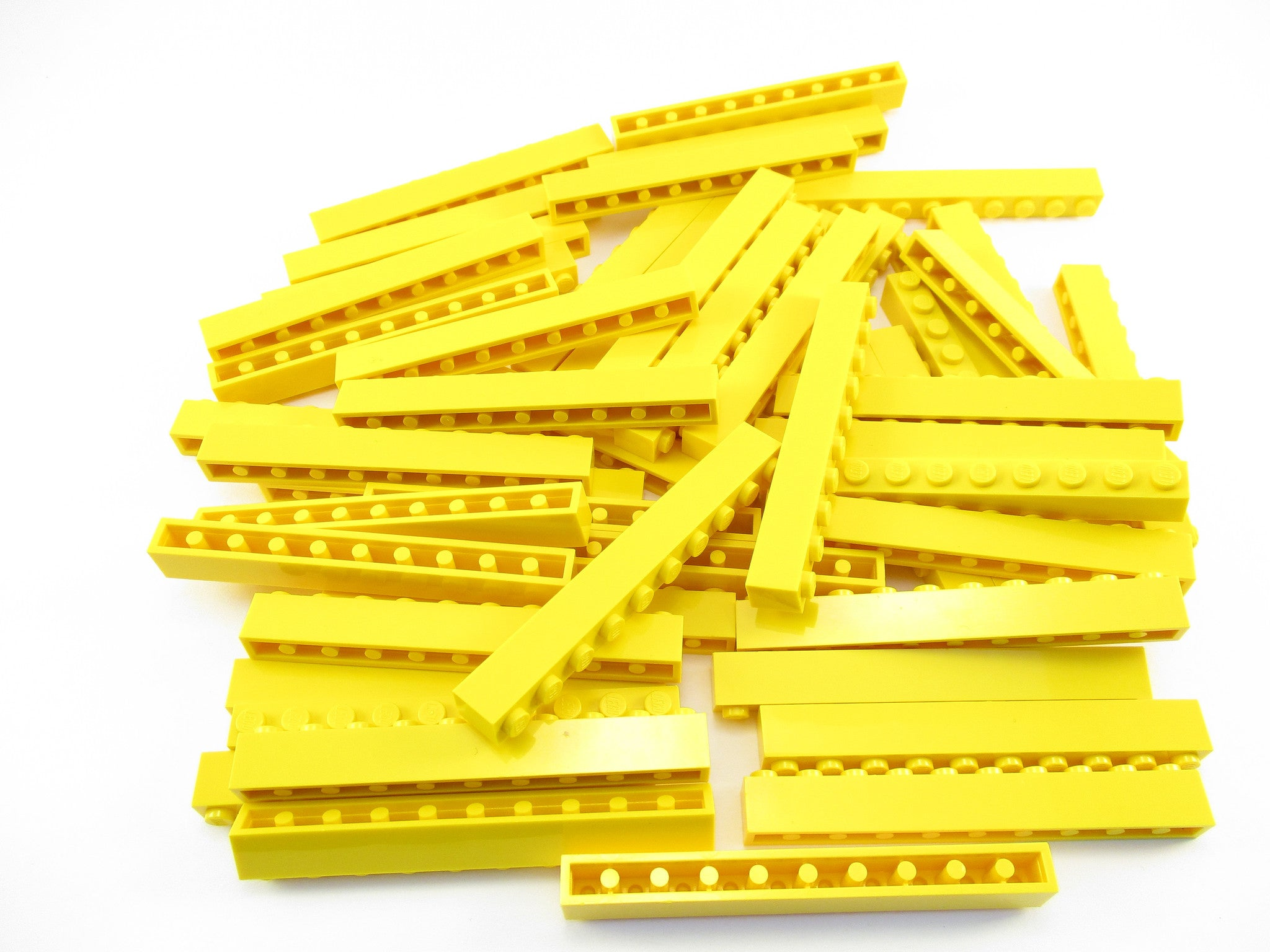 LEGO Yellow Brick 1x10 Lot of 50 Parts Pieces 6111