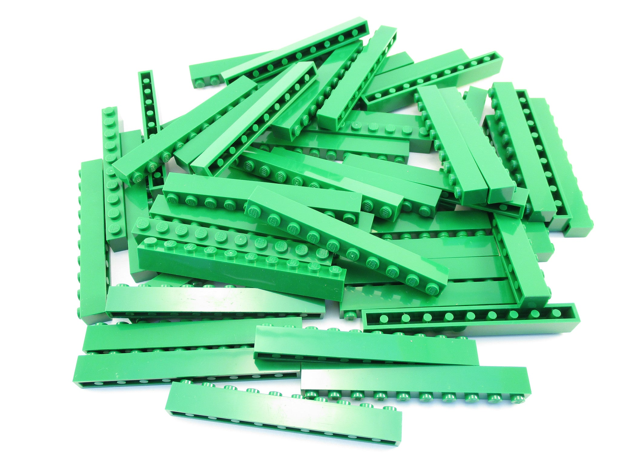 LEGO Green Brick 1x10 Lot of 50 Parts Pieces 6111