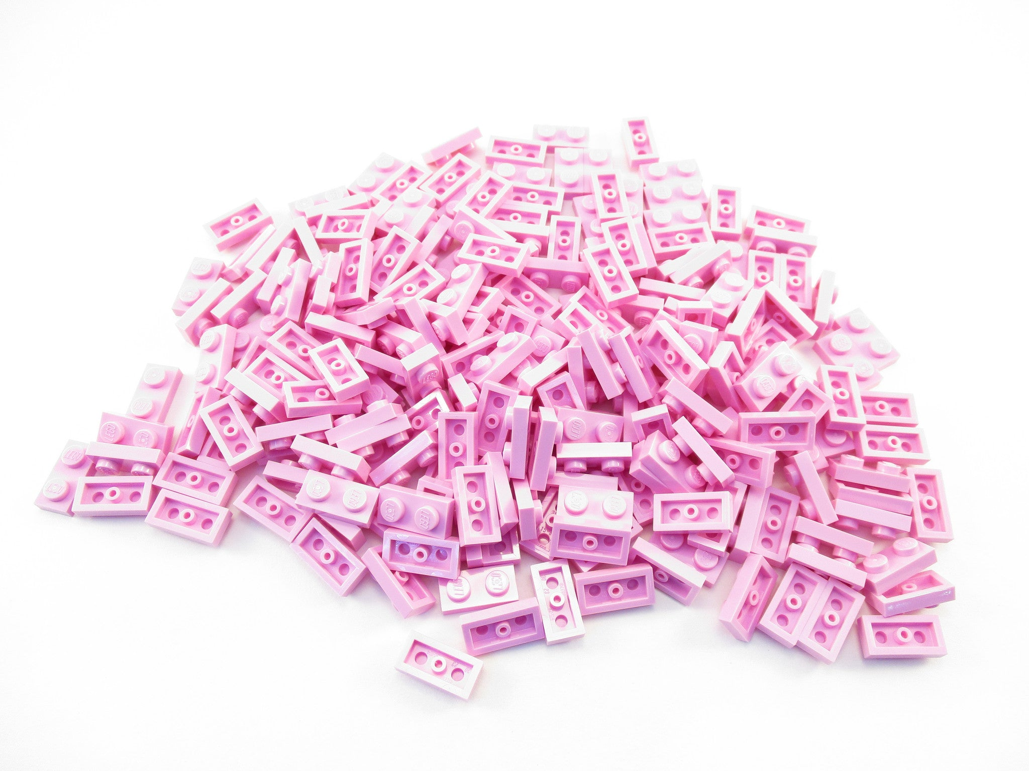LEGO Bright Pink Plate 1x2 Lot of 100 Parts Pieces 3023