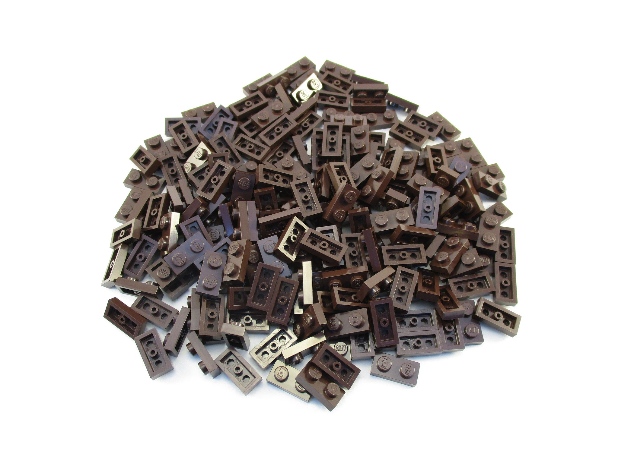 LEGO Dark Brown Plate 1x2 Lot of 100 Parts Pieces 3023