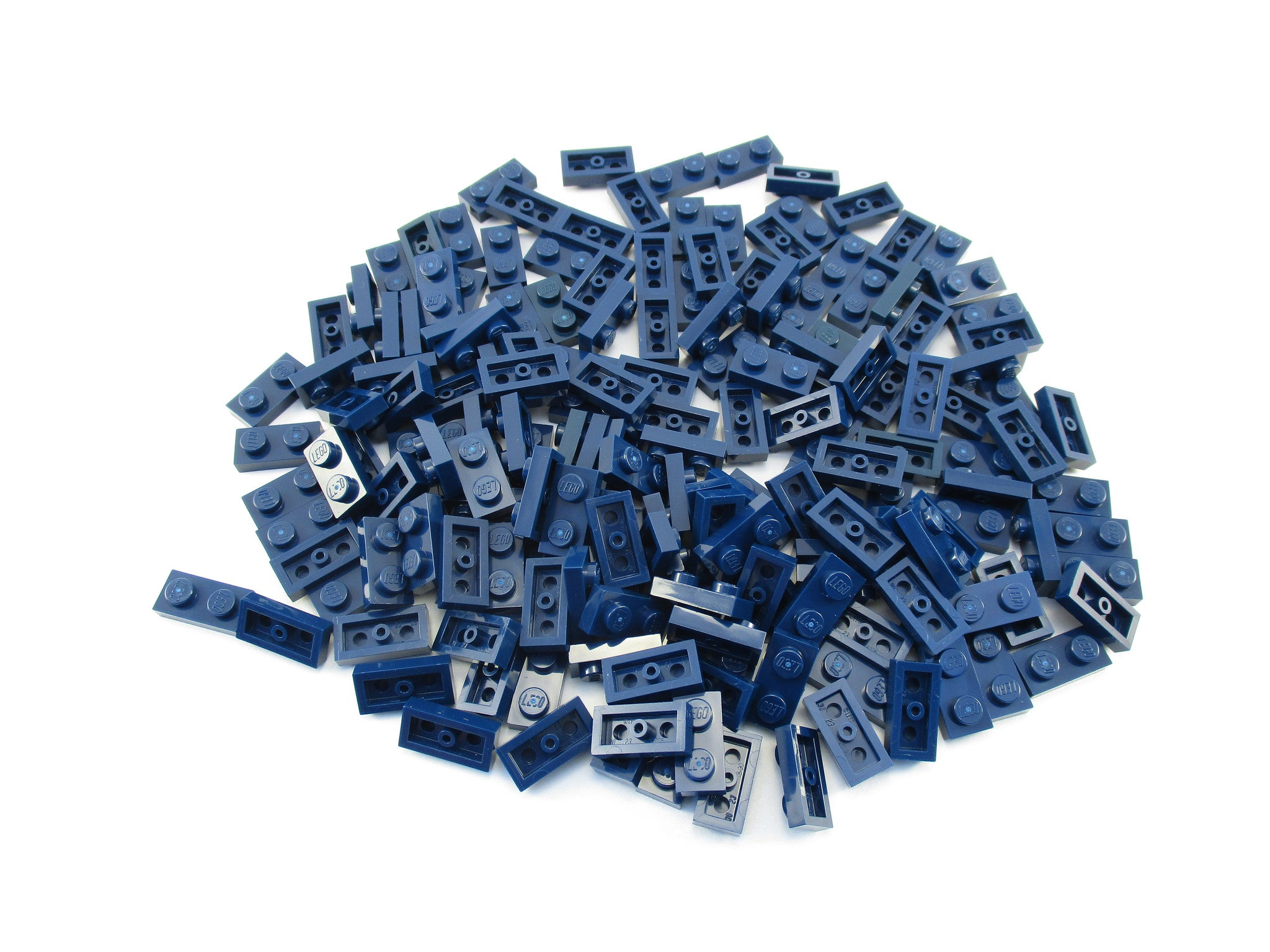 LEGO Dark Blue Plate 1x2 Lot of 100 Parts Pieces 3023