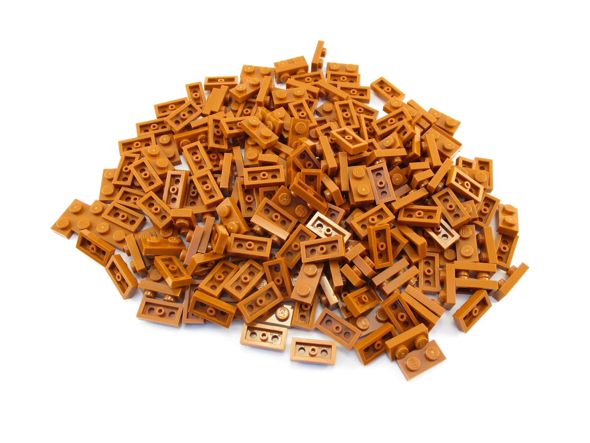 LEGO Dark Orange Plate 1x2 Lot of 100 Parts Pieces 3023