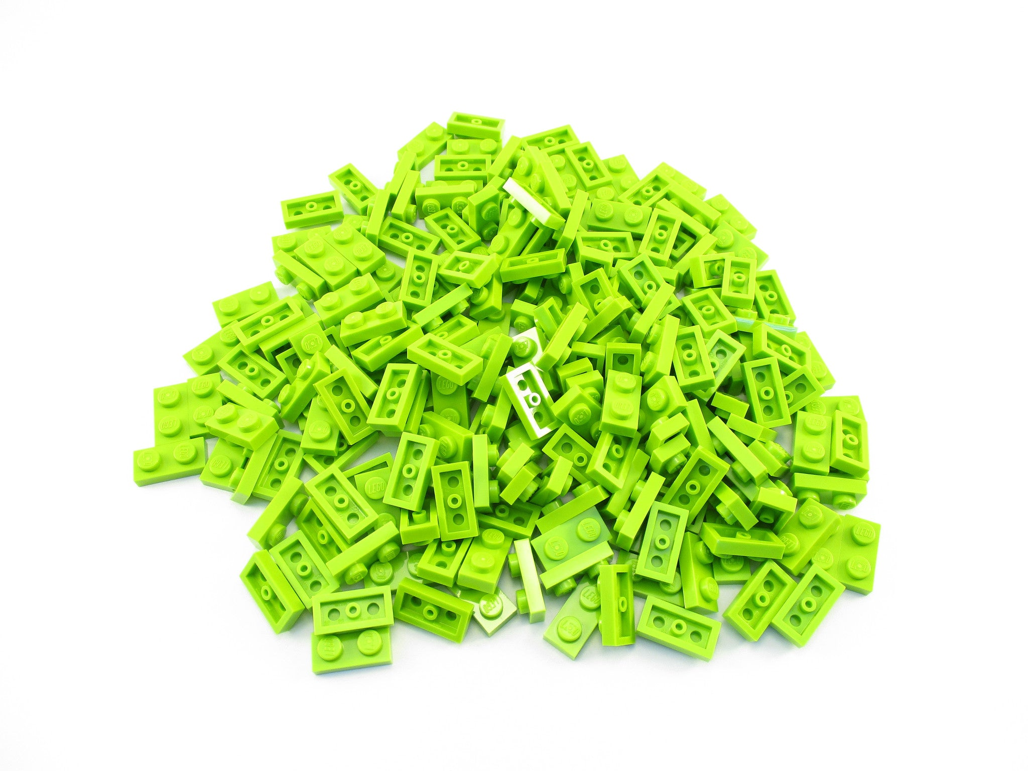LEGO Lime Plate 1x2 Lot of 100 Parts Pieces 3023