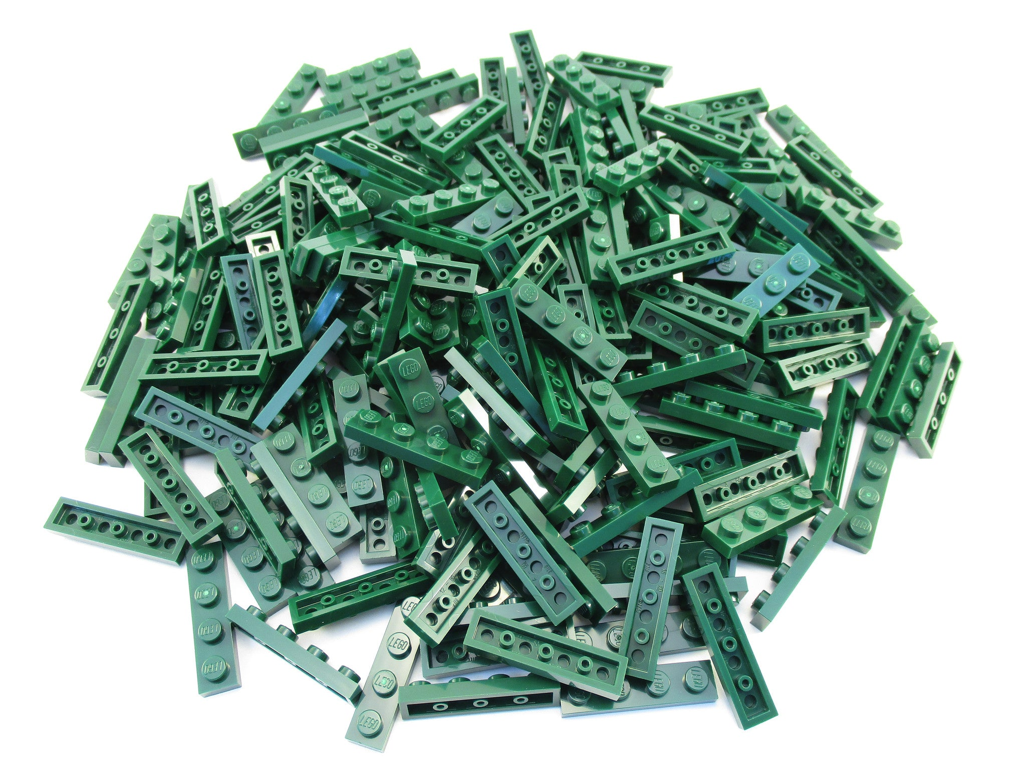 LEGO Dark Green Plate 1x4 Lot of 100 Parts Pieces 3710