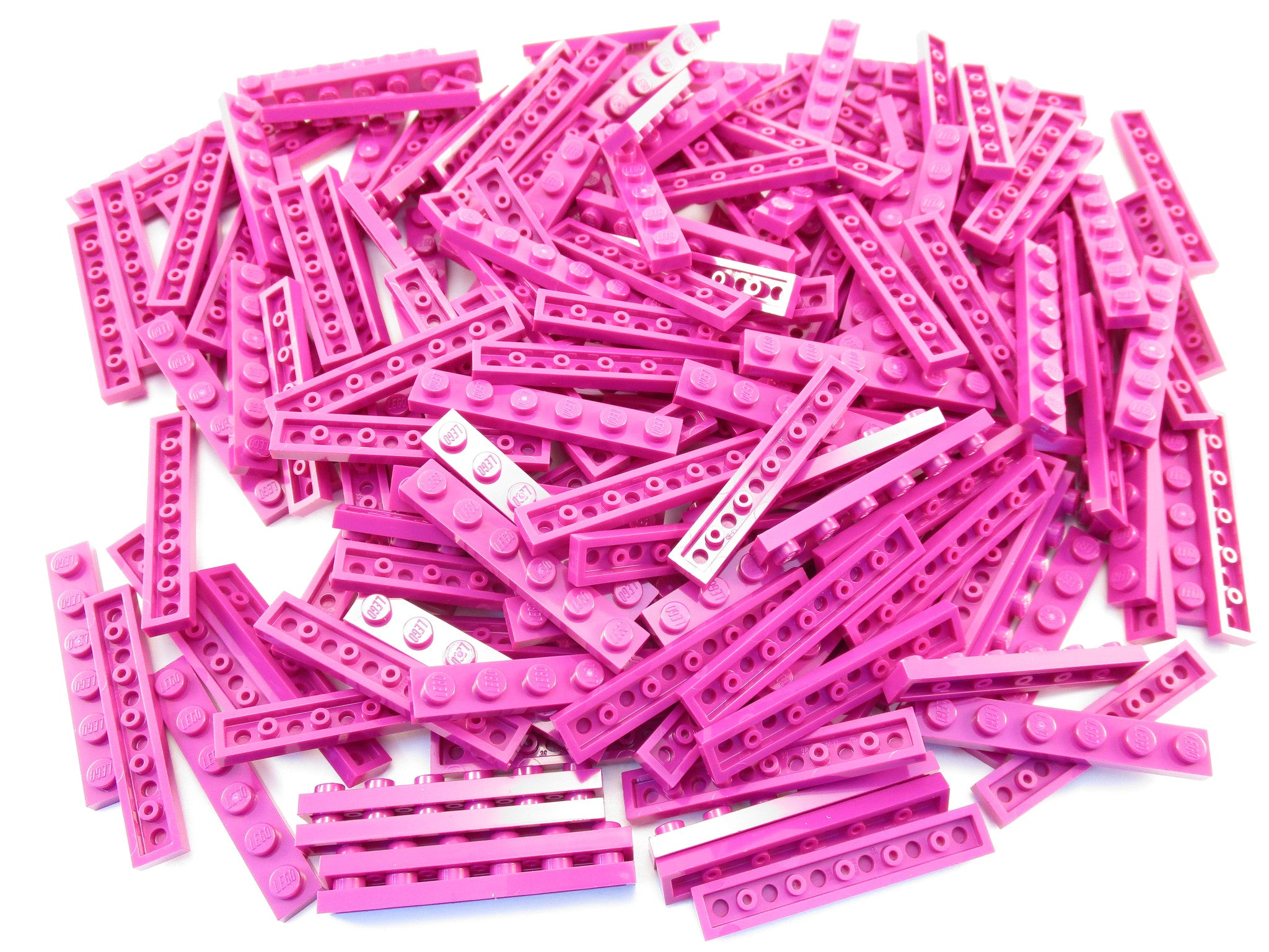 LEGO Magenta Plate 1x6 Lot of 100 Parts Pieces 3666