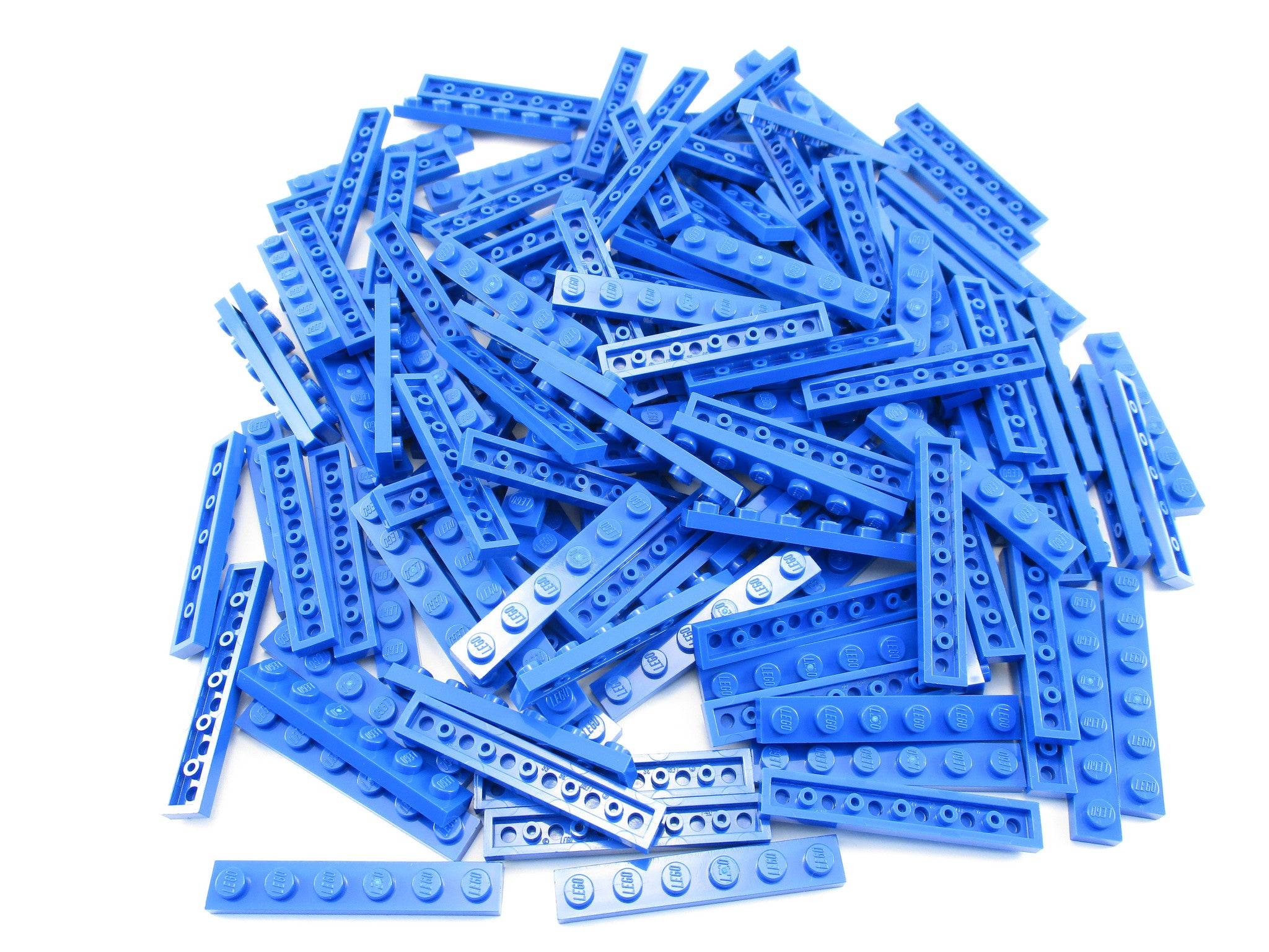 LEGO Blue Plate 1x6 Lot of 100 Parts Pieces 3666