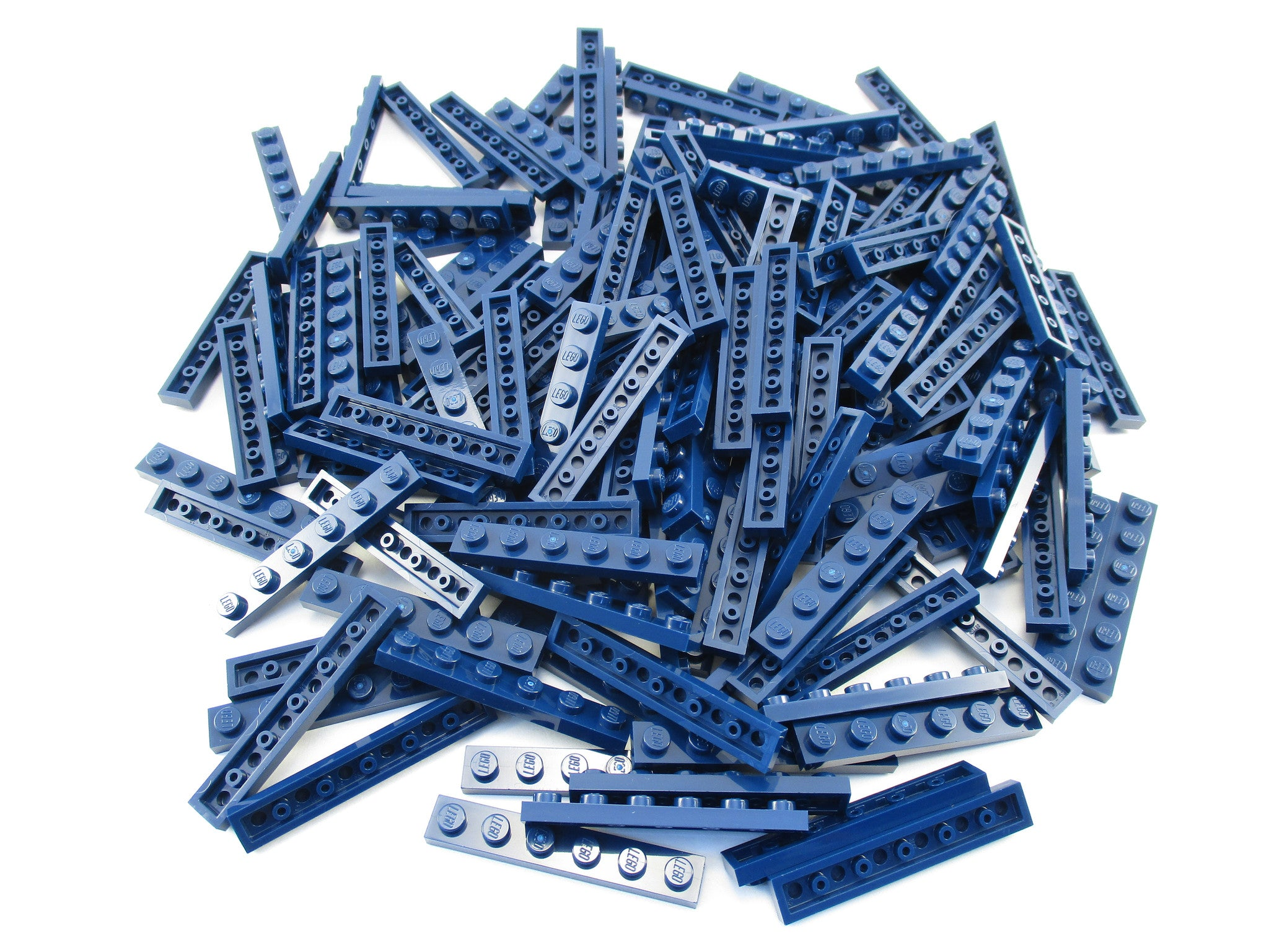 LEGO Dark Blue Plate 1x6 Lot of 100 Parts Pieces 3666