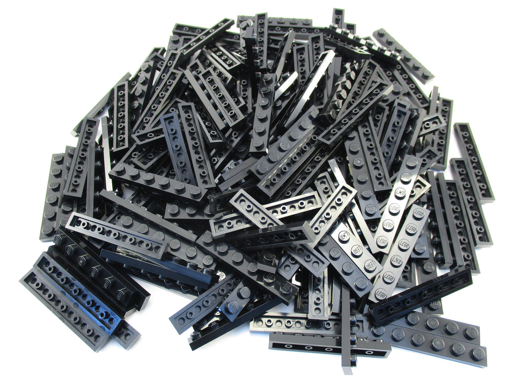 LEGO Black Plate 1x6 Lot of 100 Parts Pieces 3666