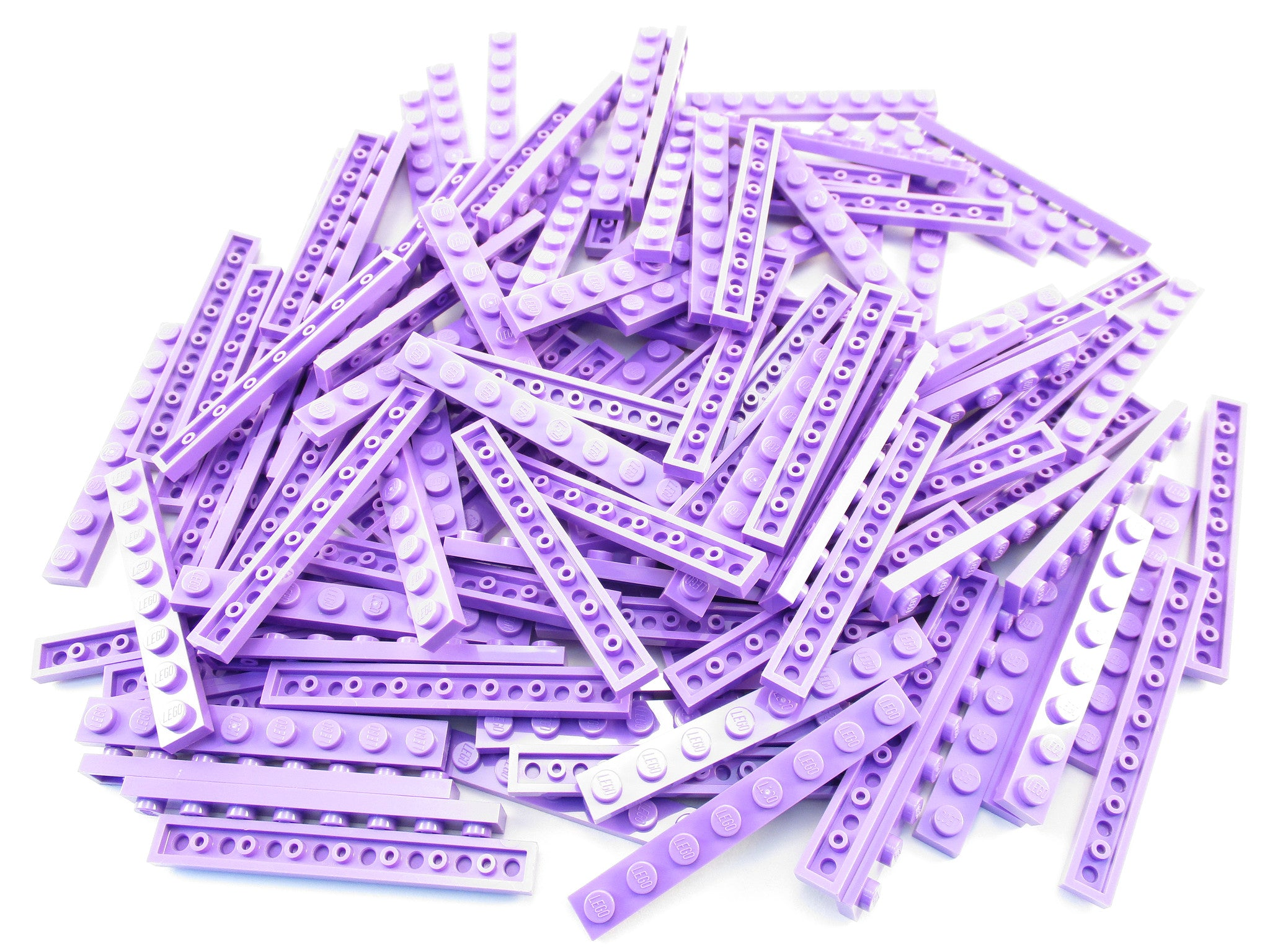 LEGO Medium Lavender Plate 1x8 Lot of 50 Parts Pieces 3460