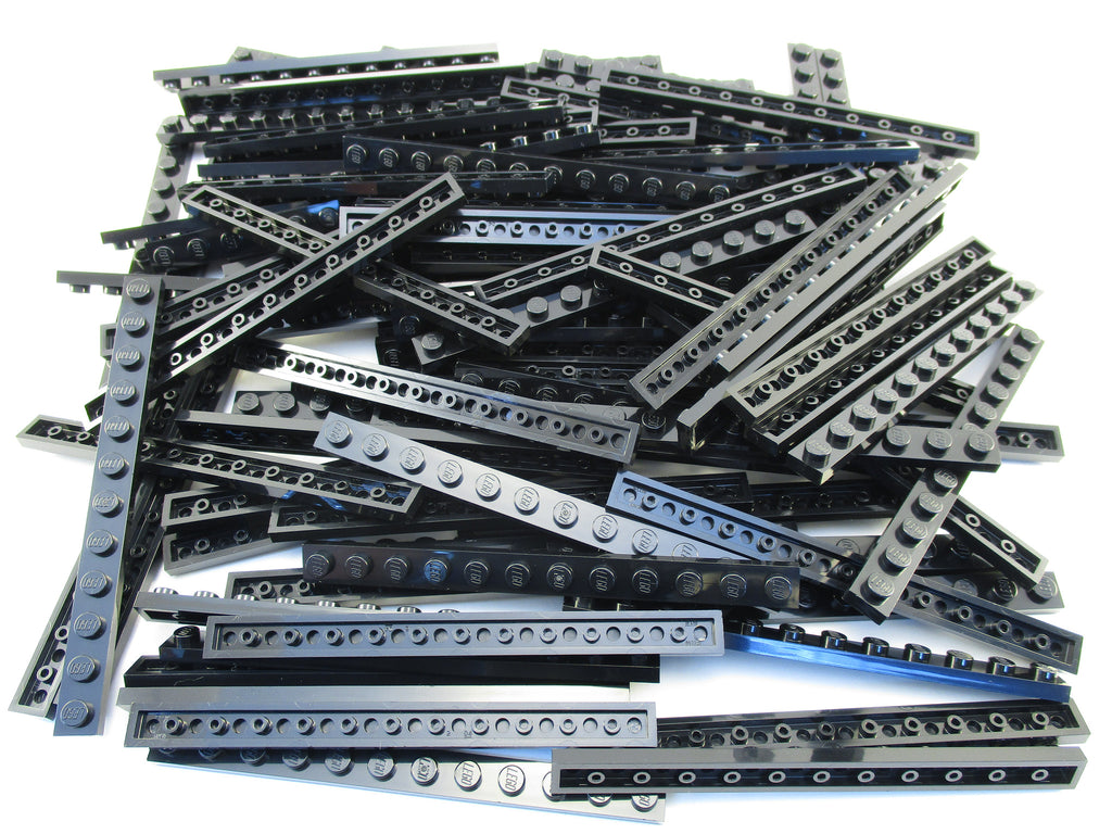 LEGO Black Plate 1x12 Lot of 50 Parts Pieces 60479