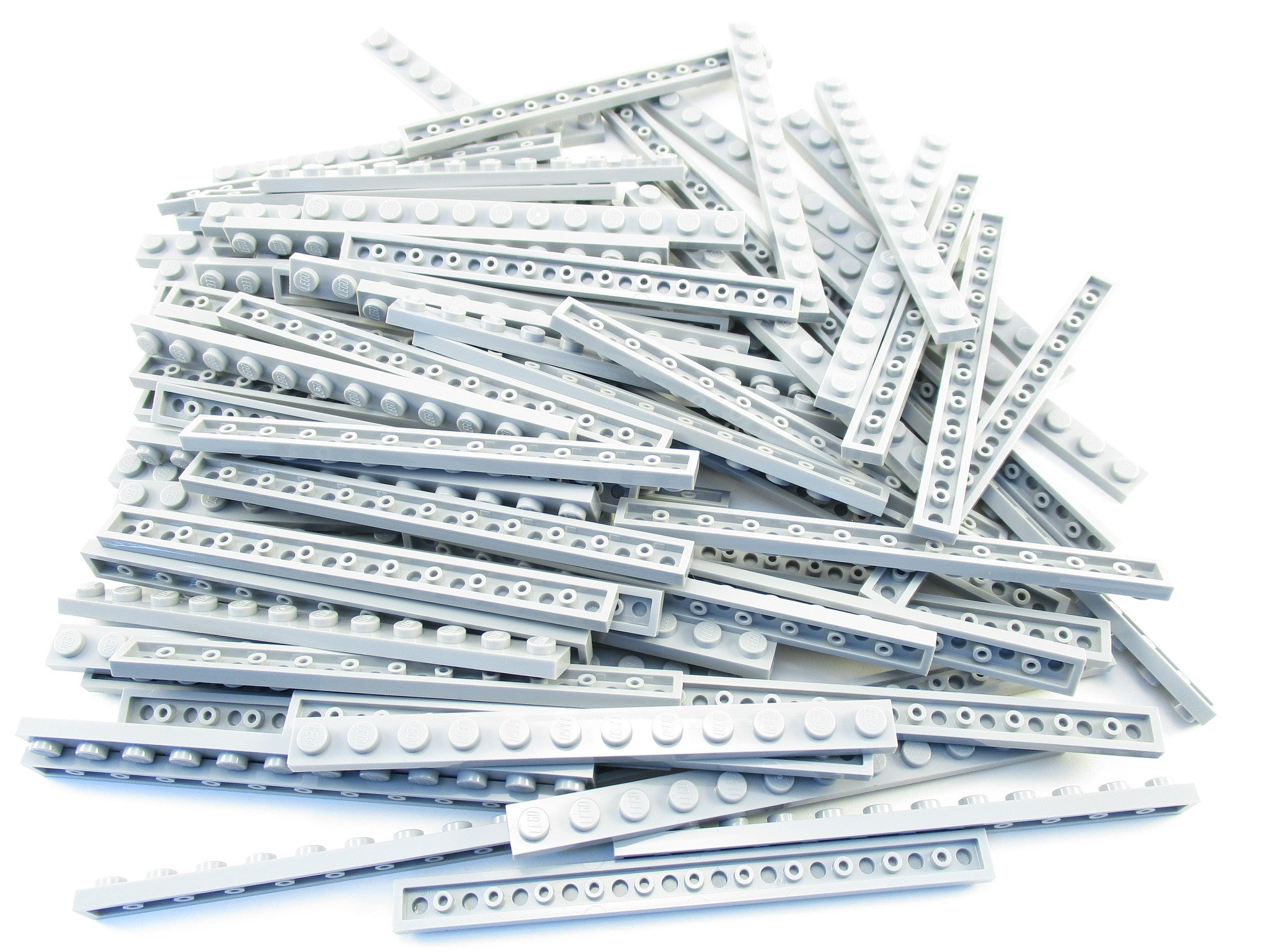 LEGO Light Bluish Grey Plate 1x12 Lot of 50 Parts Pieces 60479 Gray