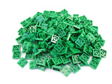 LEGO Green Plate 2x2 Lot of 100 Parts Pieces 3022