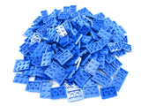 LEGO Blue Plate 2x3 Lot of 100 Parts Pieces 3021