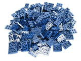 LEGO Dark Blue Plate 2x3 Lot of 100 Parts Pieces 3021