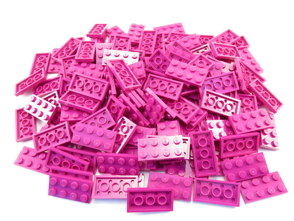 LEGO Magenta Plate 2x4 Lot of 100 Parts Pieces 3020