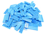 LEGO Dark Azure Plate 2x6 Lot of 100 Parts Pieces 3795