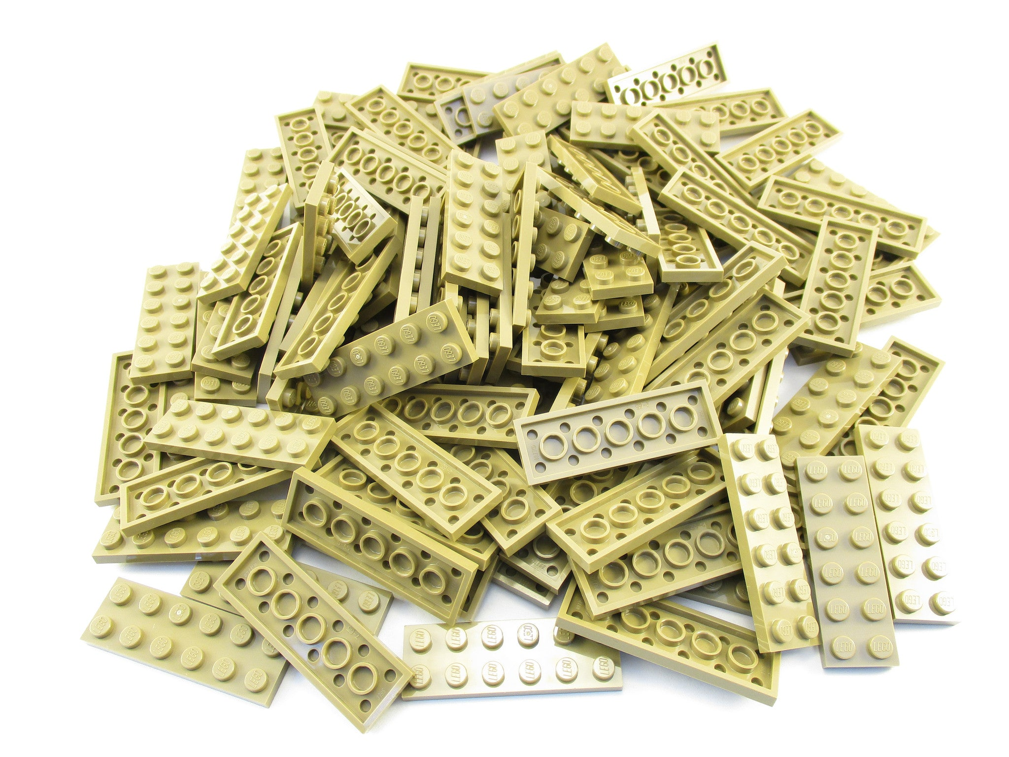 LEGO Dark Tan Plate 2x6 Lot of 100 Parts Pieces 3795