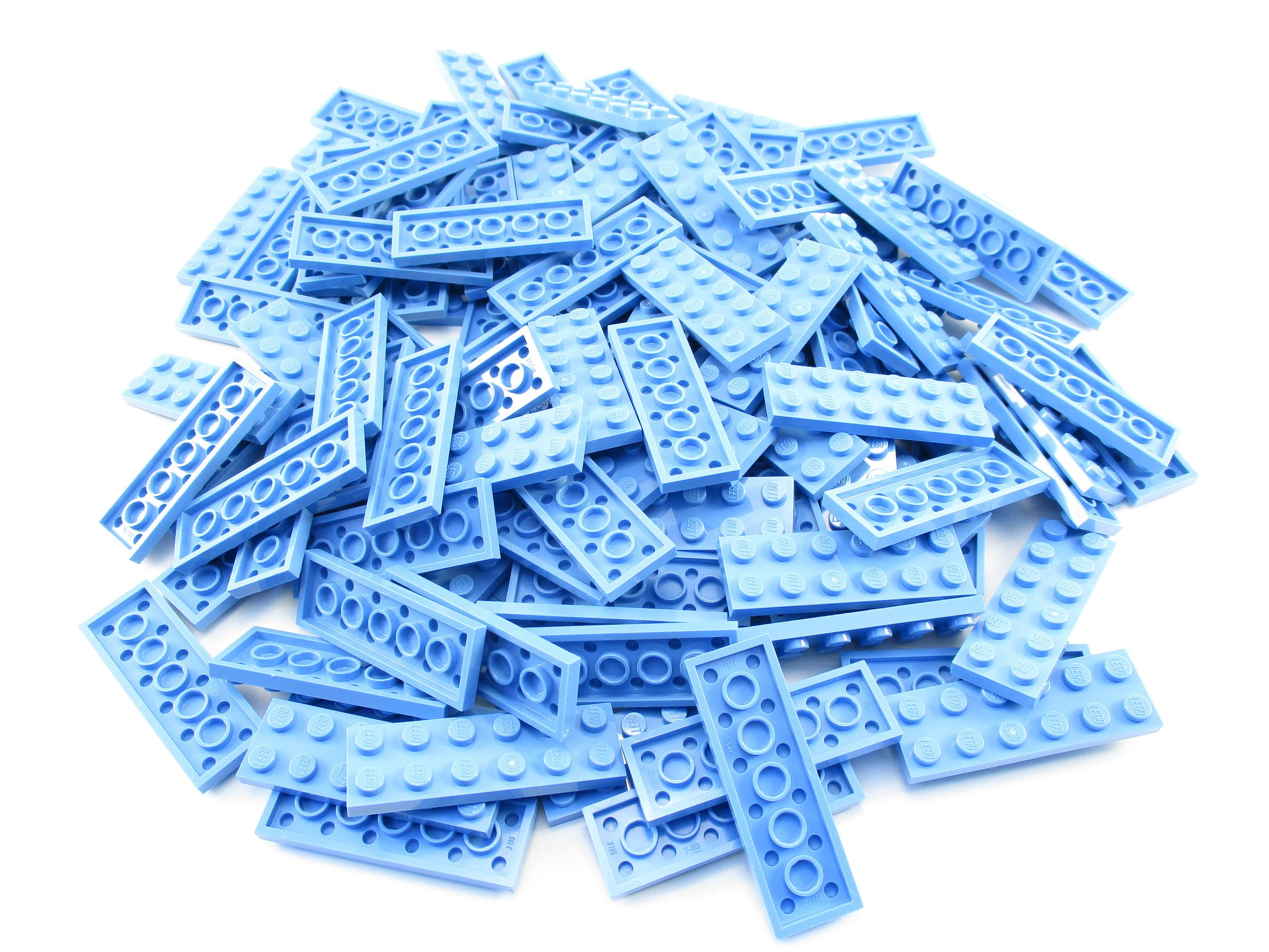LEGO Medium Blue Plate 2x6 Lot of 100 Parts Pieces 3795