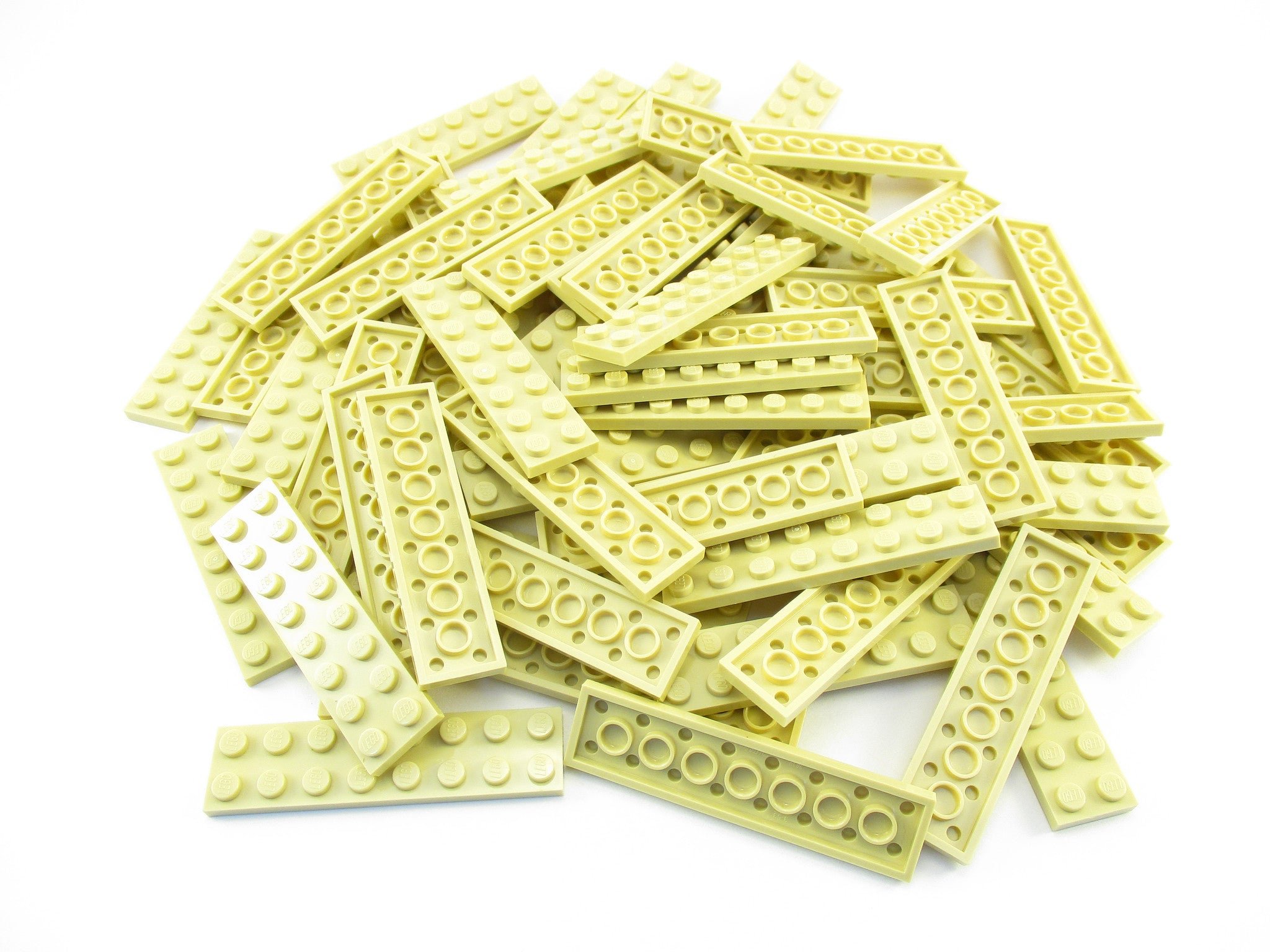 LEGO Tan Plate 2x8 Lot of 50 Parts Pieces 3034